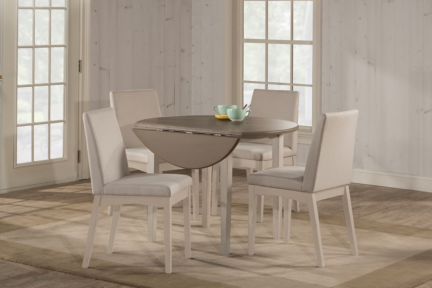 5 Piece Dining Set With Upholstered Chairs – Dining Room Ideas With 2018 Jaxon Grey 5 Piece Round Extension Dining Sets With Wood Chairs (Photo 20 of 20)