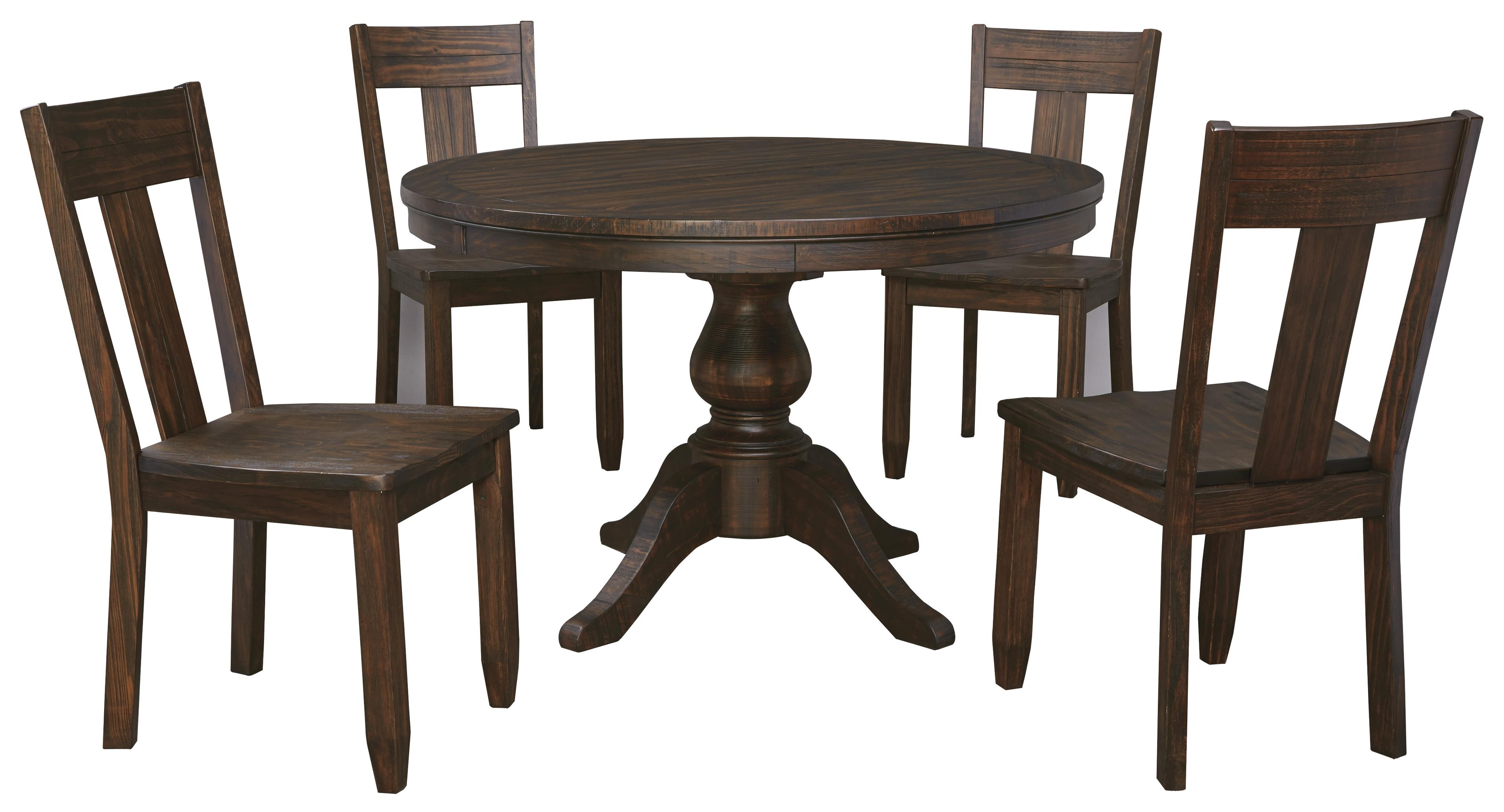 5 Piece Round Dining Table Set – Castrophotos Within Current Macie Round Dining Tables (Image 2 of 20)