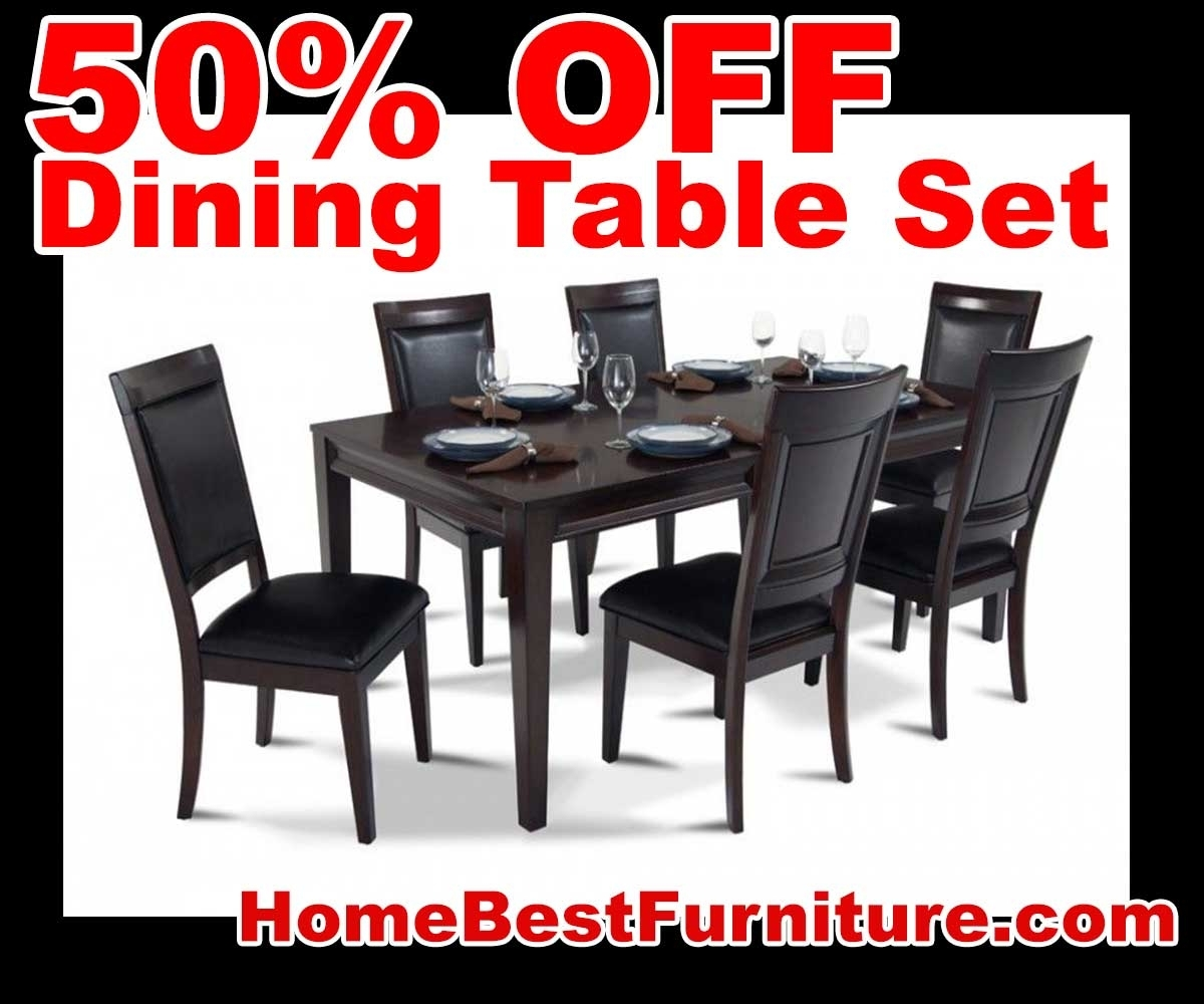 50 Percent Off Discount Matrix 7 Piece Dining Table Set Reviews Pertaining To Most Recent Caira 9 Piece Extension Dining Sets (Image 3 of 20)