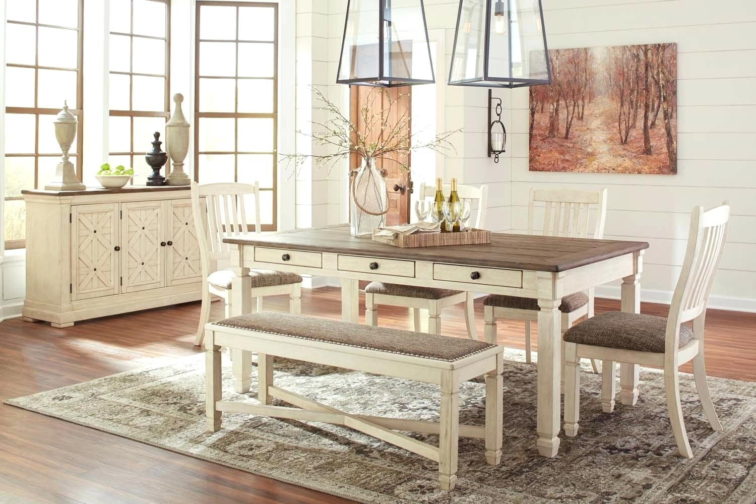 6 Piece Dining Room Set Sets Bravo Counter Height Corner Seating 2 Regarding Most Current Mallard 7 Piece Extension Dining Sets (Image 1 of 20)