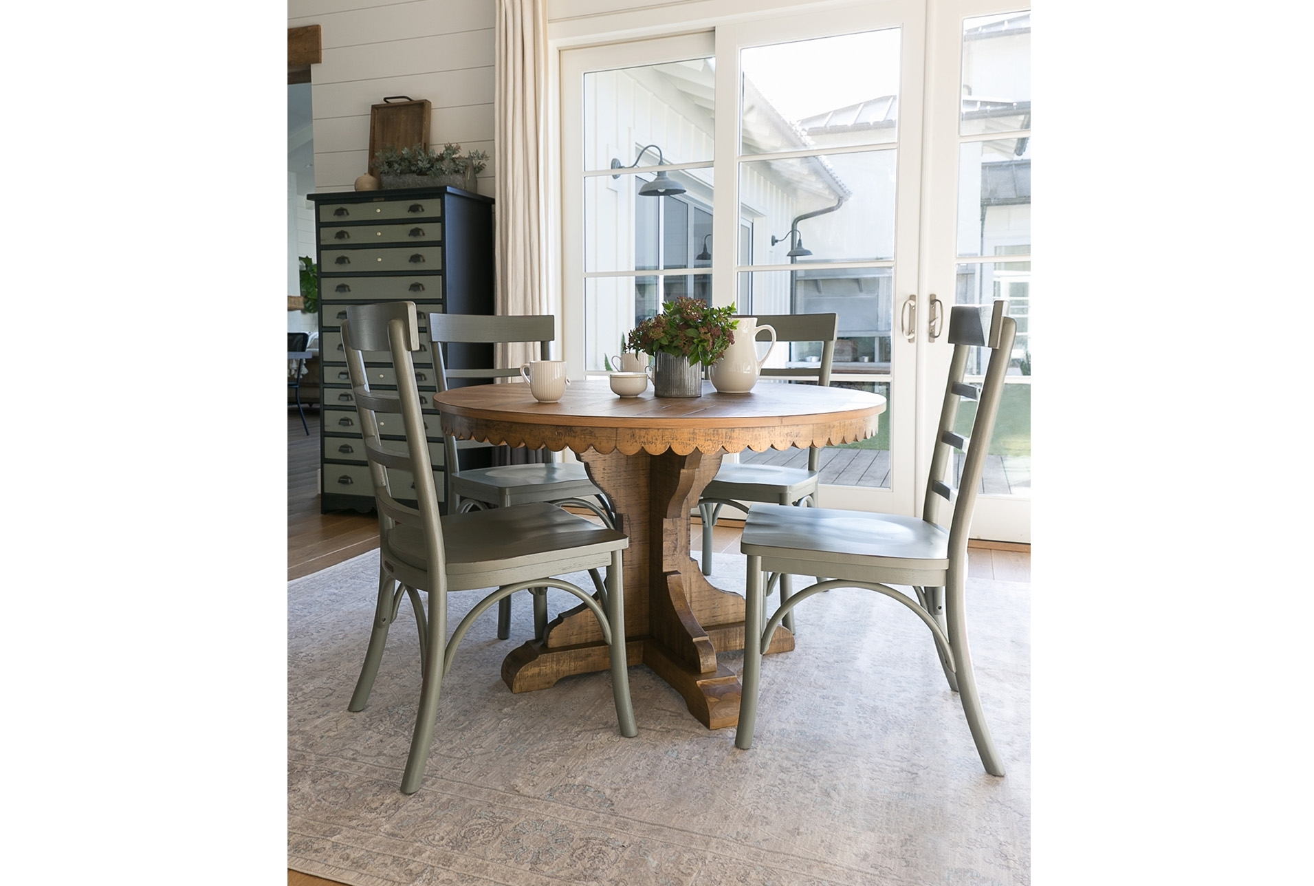 63X90 Rug Magnolia Home Ella Rose Natural/naturaljoanna Gaines Regarding Current Magnolia Home Top Tier Round Dining Tables (Image 1 of 20)