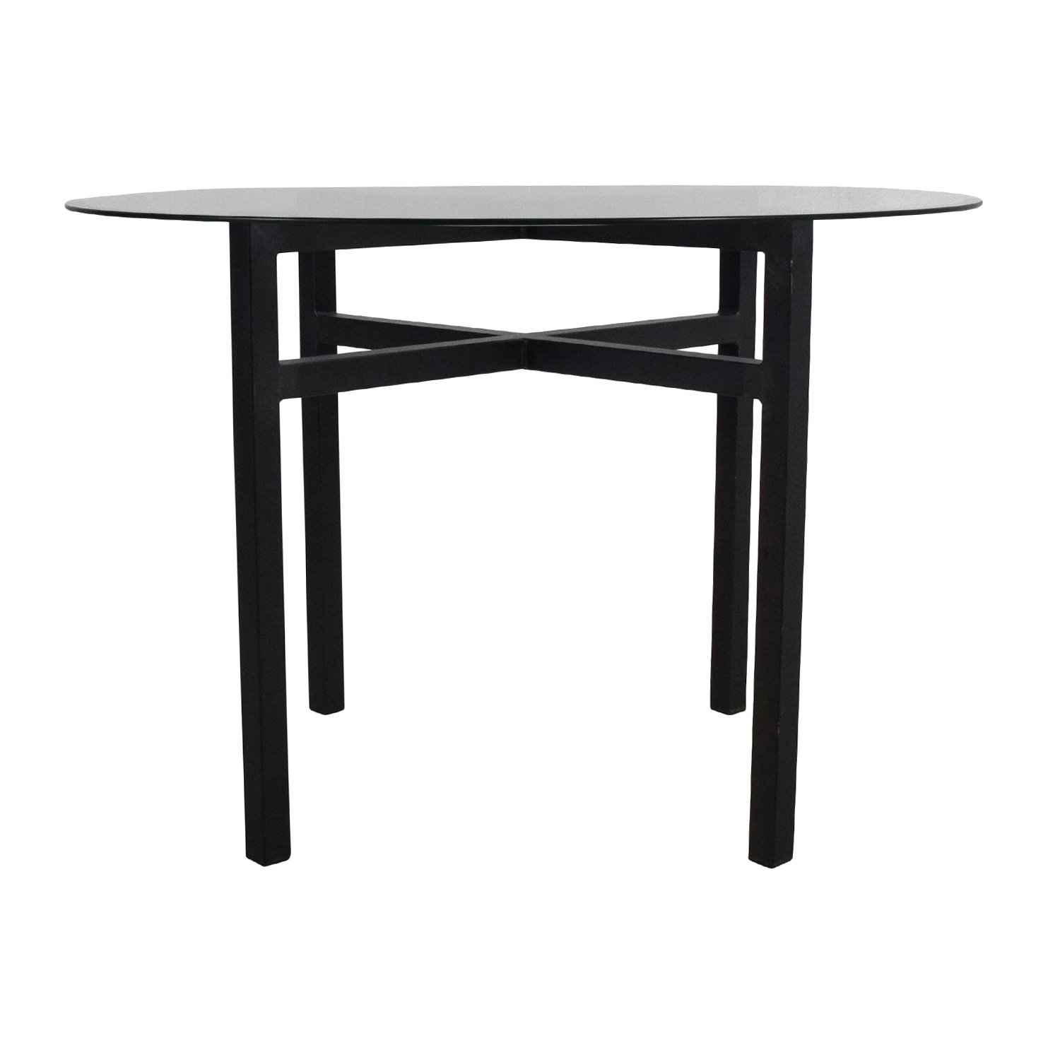 69% Off – Room And Board Room & Board Benson Glass Top Dining Table Within Most Recent Benson Rectangle Dining Tables (Image 2 of 20)