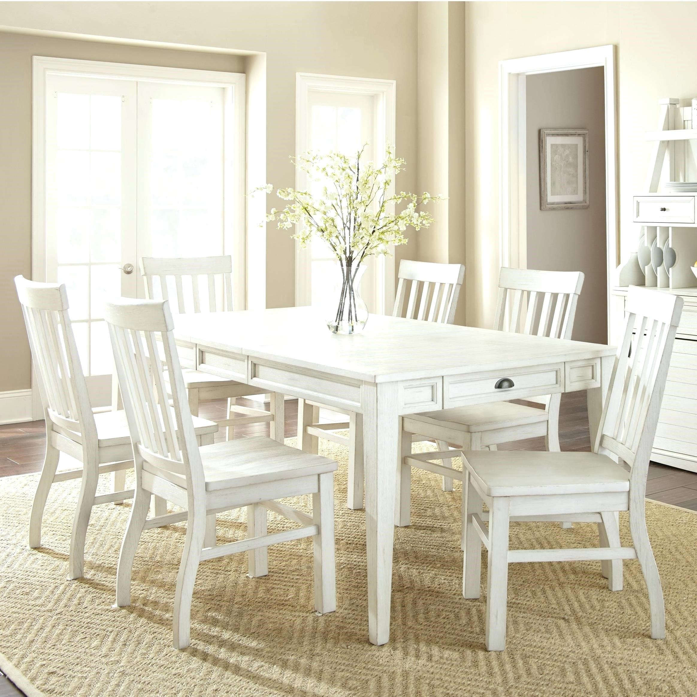 7 Piece Dining Set Under 400 Round Dining Room Set For 4 White Round Inside Most Recently Released Partridge 7 Piece Dining Sets (Image 3 of 20)