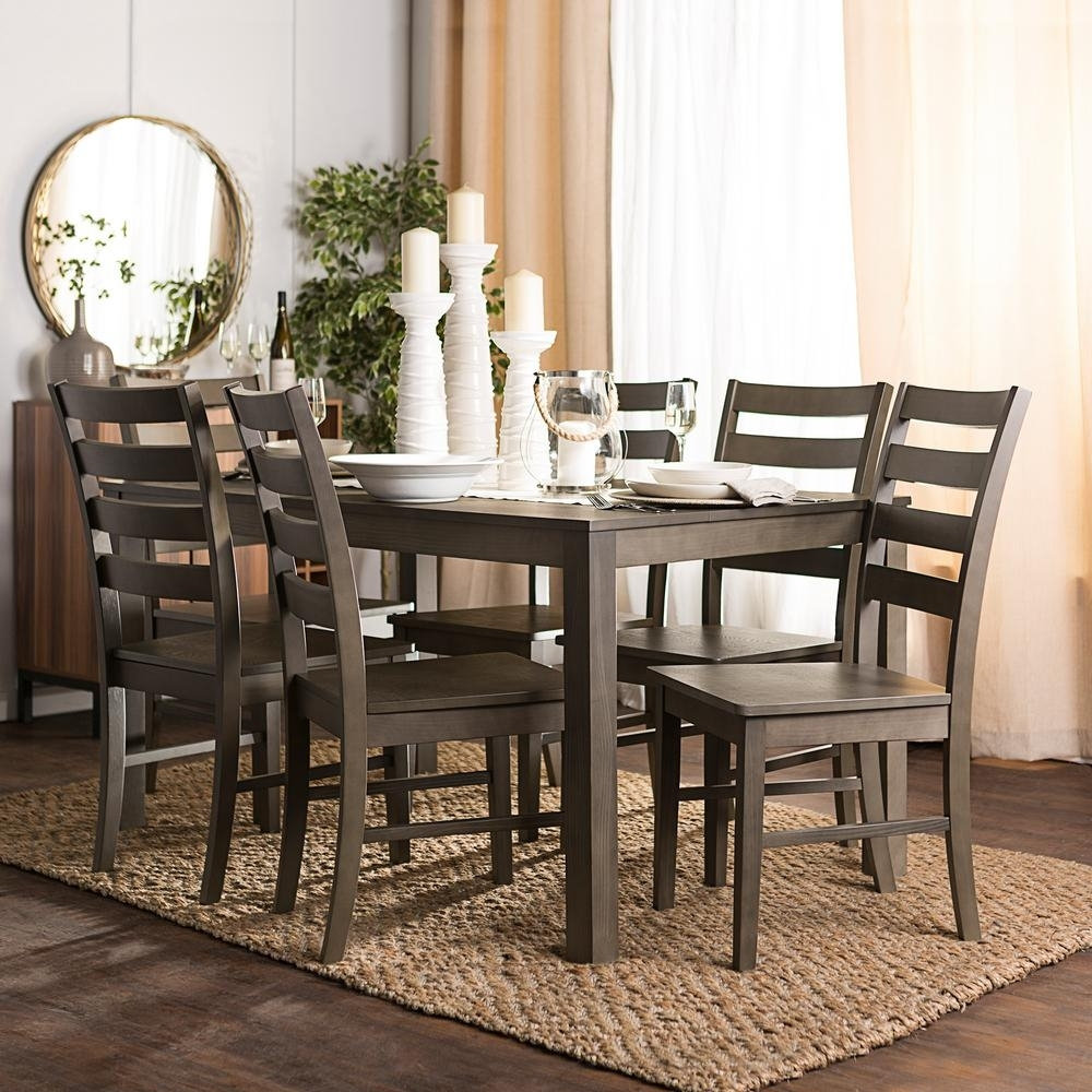 7 Piece Wood Dining Sets | Home Design Ideas With Regard To Most Current Jaxon Grey 6 Piece Rectangle Extension Dining Sets With Bench & Wood Chairs (Image 2 of 20)