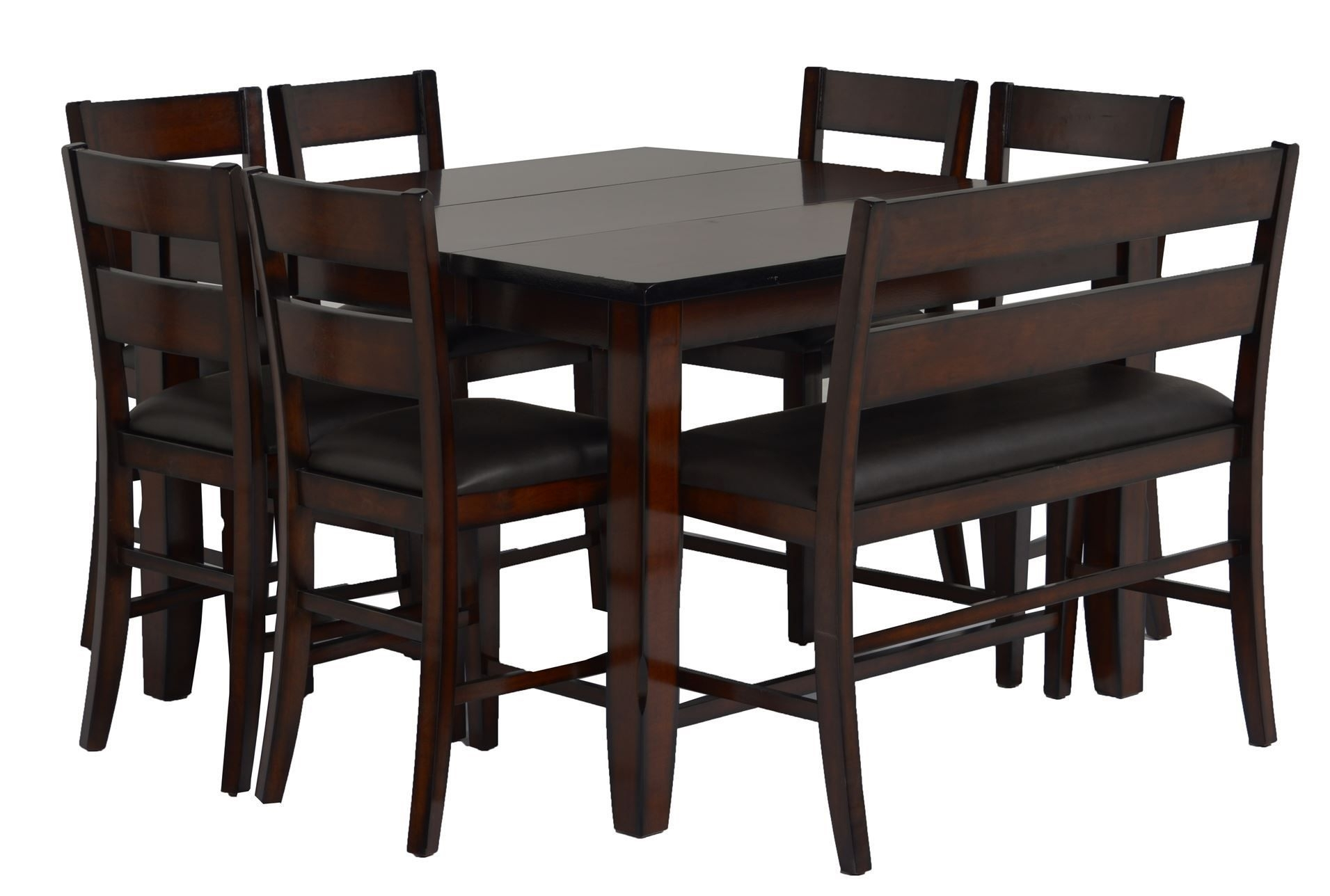8 Piece Extension Counter Set, Rocco, Espresso, Kitchen & Dining Within Most Recently Released Rocco 7 Piece Extension Dining Sets (Image 1 of 20)