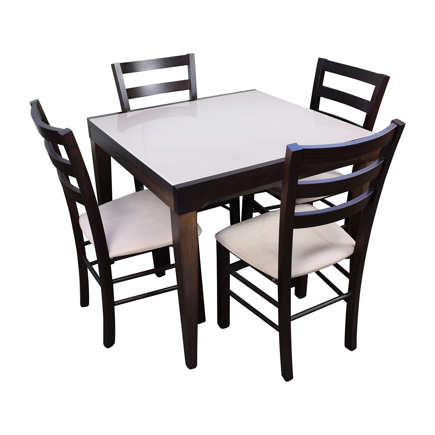 82% Off – Macy's Macy's Cafe Latte Five Piece Extendable Dining Set Inside Most Popular Macie 5 Piece Round Dining Sets (Photo 12 of 20)