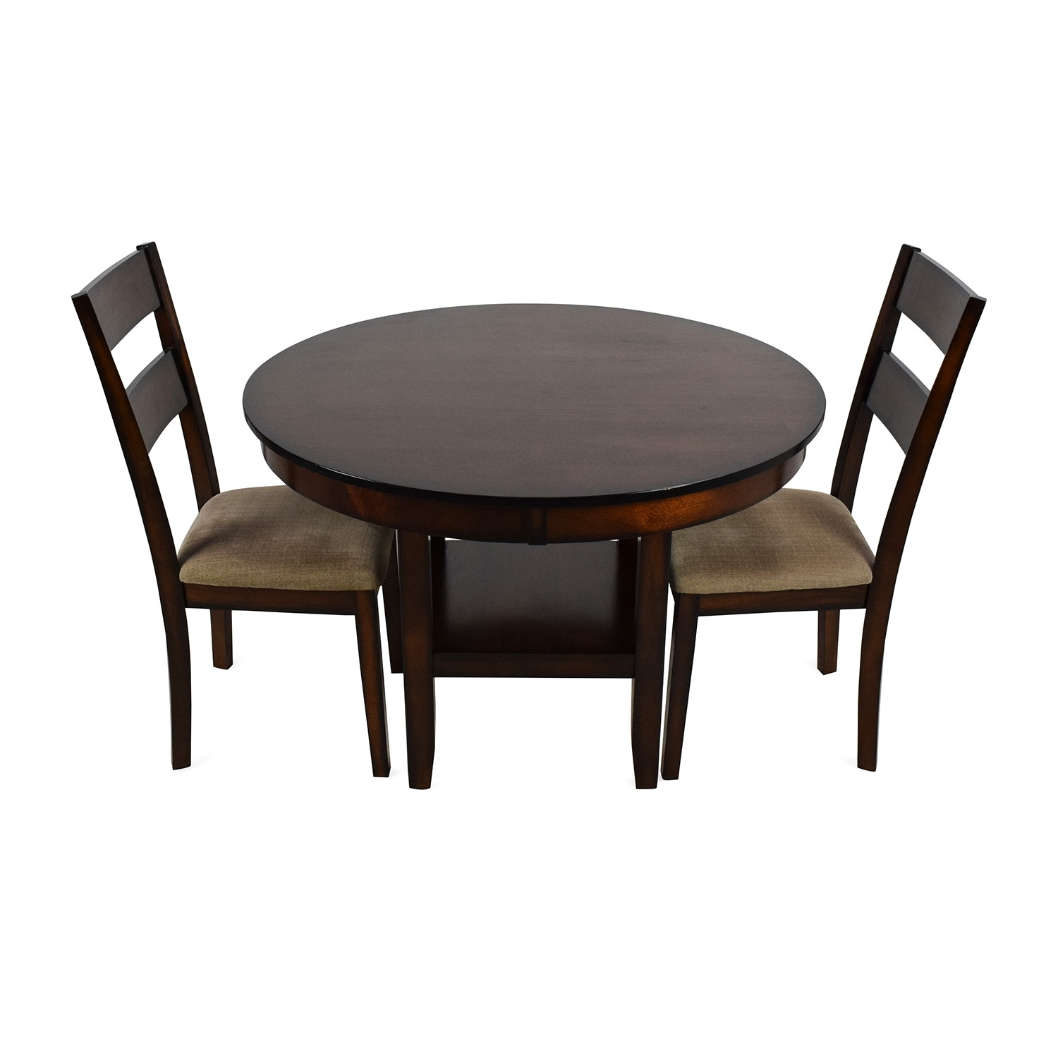 85% Off – Macy's Macy's Branton 3 Piece Dining Room Collection / Tables Within Most Popular Macie 5 Piece Round Dining Sets (View 16 of 20)