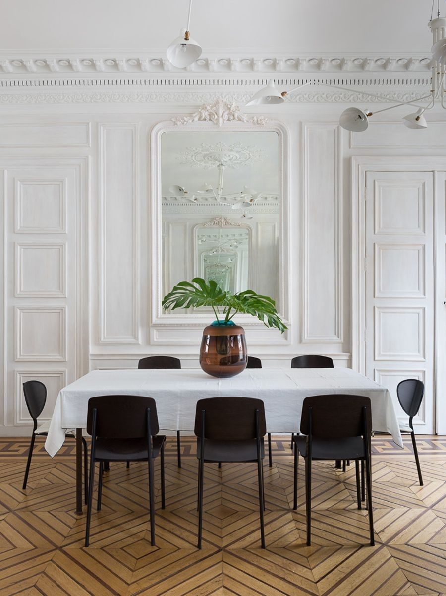 A Paris Pied–À–Terre | Interiors – Residential | Pinterest Within Most Recent Palazzo 6 Piece Dining Set With Mindy Slipcovered Side Chairs (View 15 of 20)