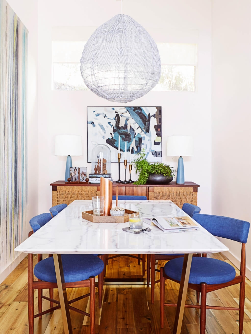 A Roundup Of 126 Dining Tables For Every Style And Space | Emily With Latest Ina Pewter 60 Inch Counter Tables With Frosted Glass (View 18 of 20)