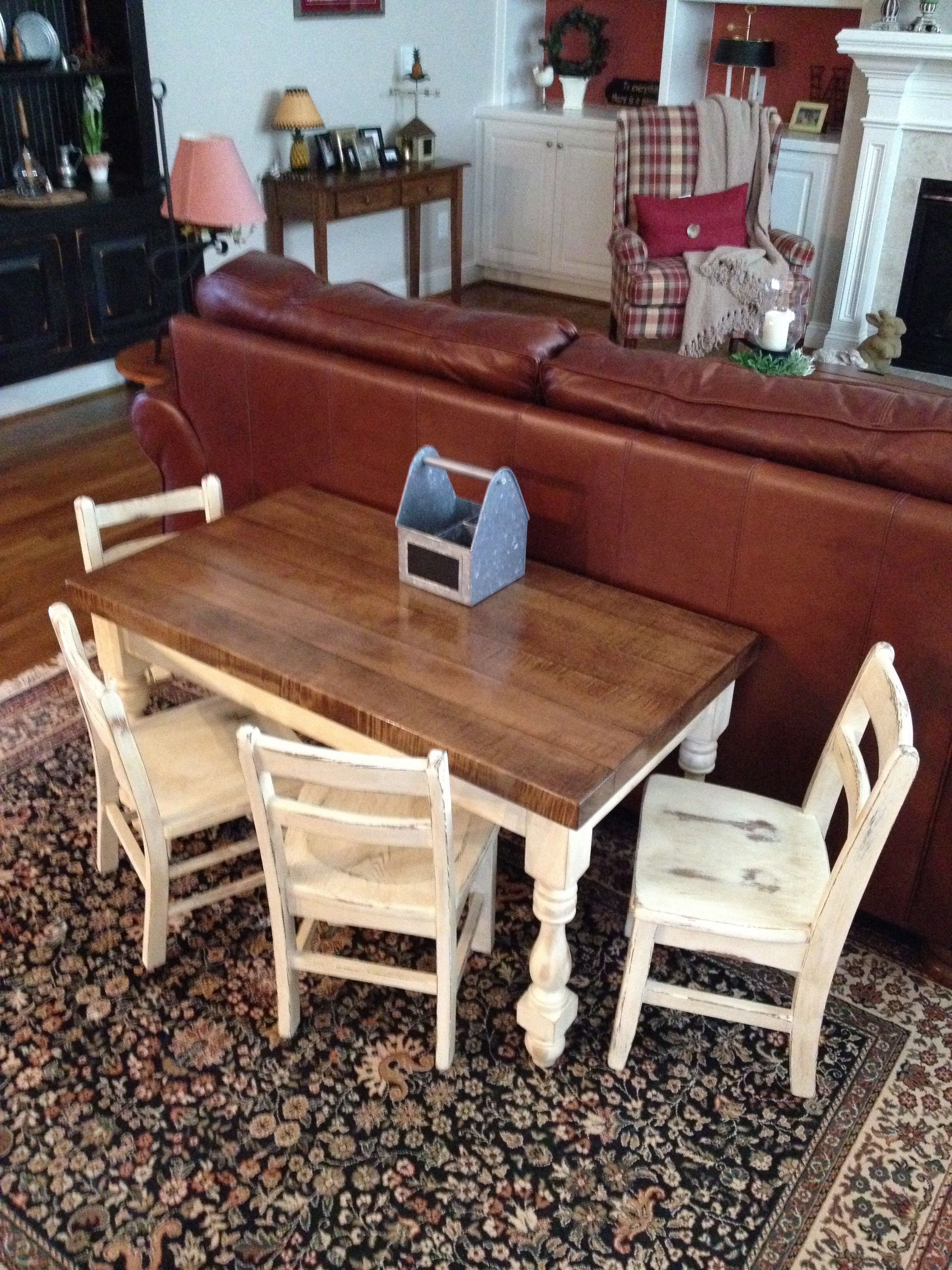 A Table I Was Inspired To Make From Chip And Joanna Gaines Show Inside Current Magnolia Home Array Dining Tables By Joanna Gaines (Image 2 of 20)