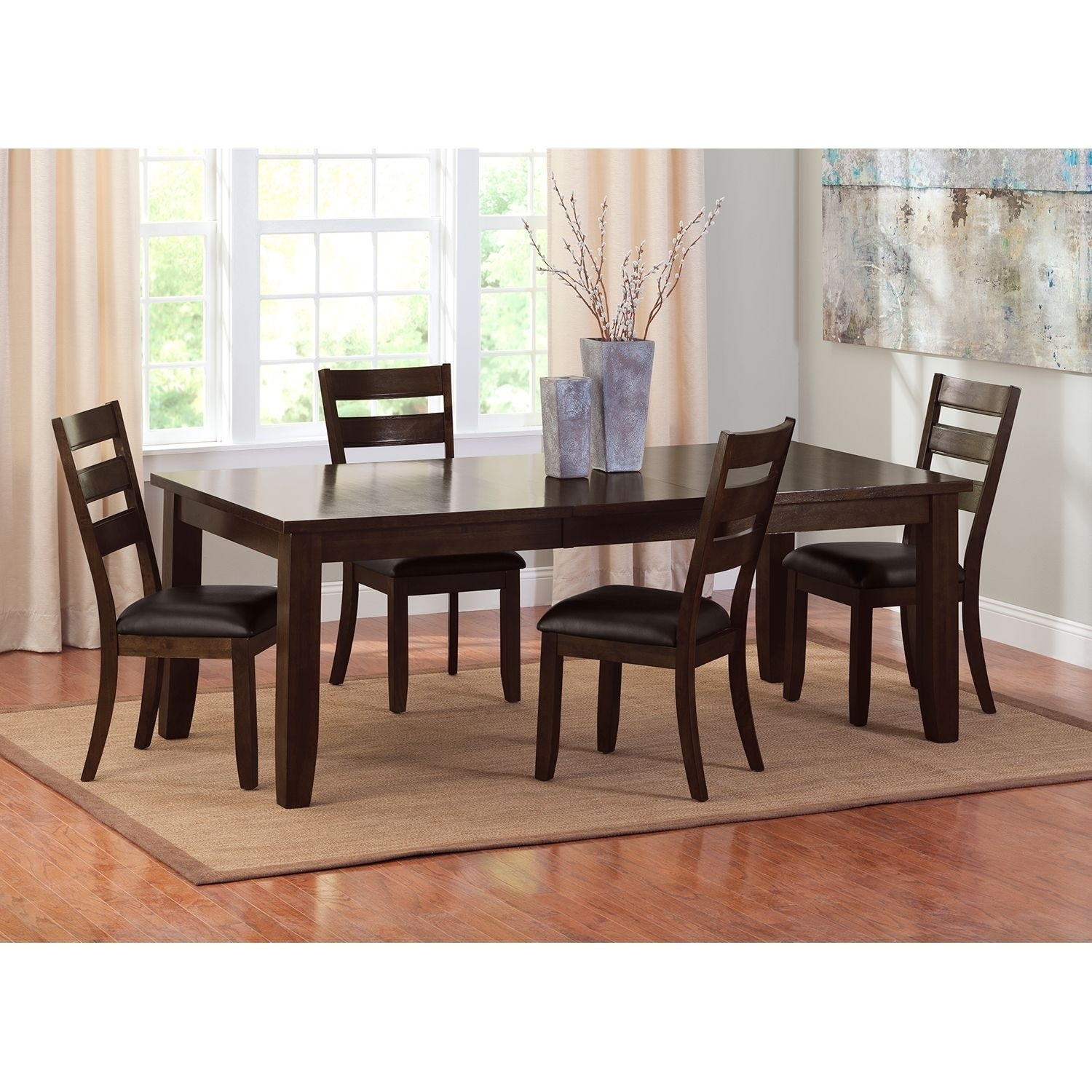 Abaco Table And 4 Chairs – Brown | Pinterest | City Furniture For 2017 Cora 7 Piece Dining Sets (Image 3 of 20)