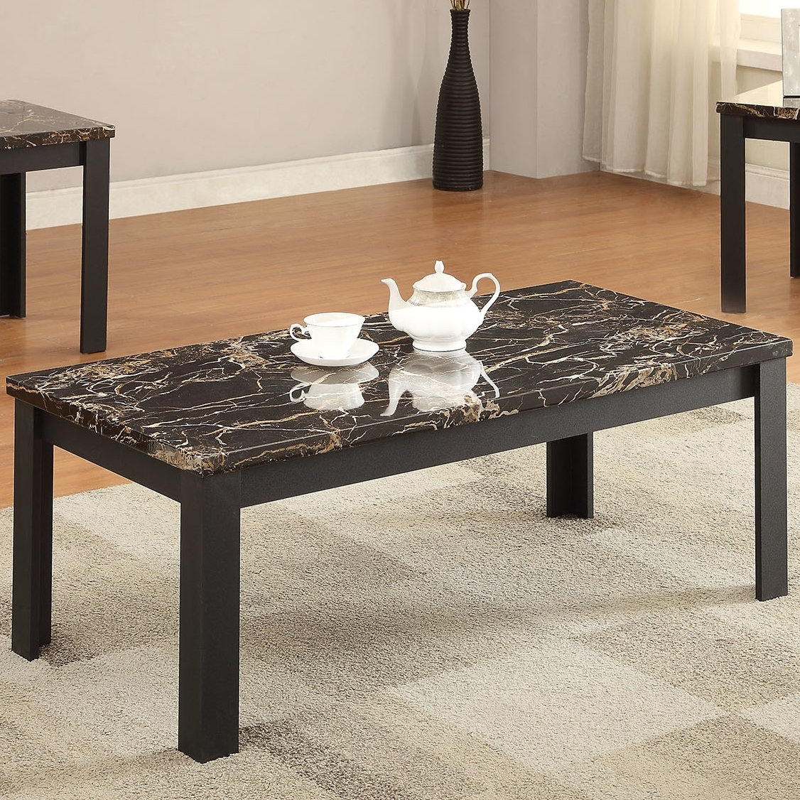 Acme Furniture Carly 3 Piece Coffee Table Set & Reviews | Wayfair (Image 3 of 20)
