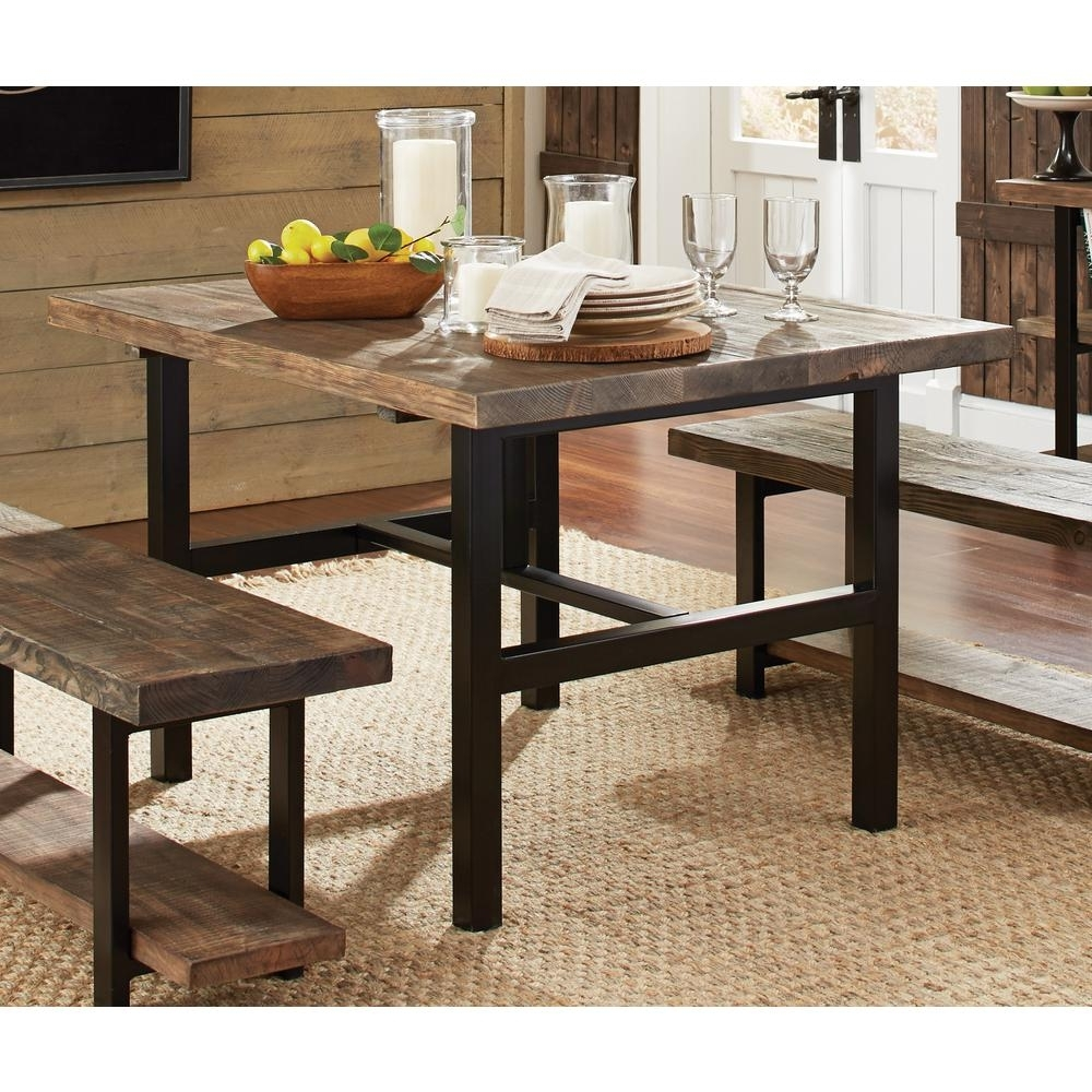 Alaterre Furniture Pomona Rustic Natural Dining Table Amba1720 – The Intended For Most Recently Released Mango Wood/iron Dining Tables (Image 2 of 20)