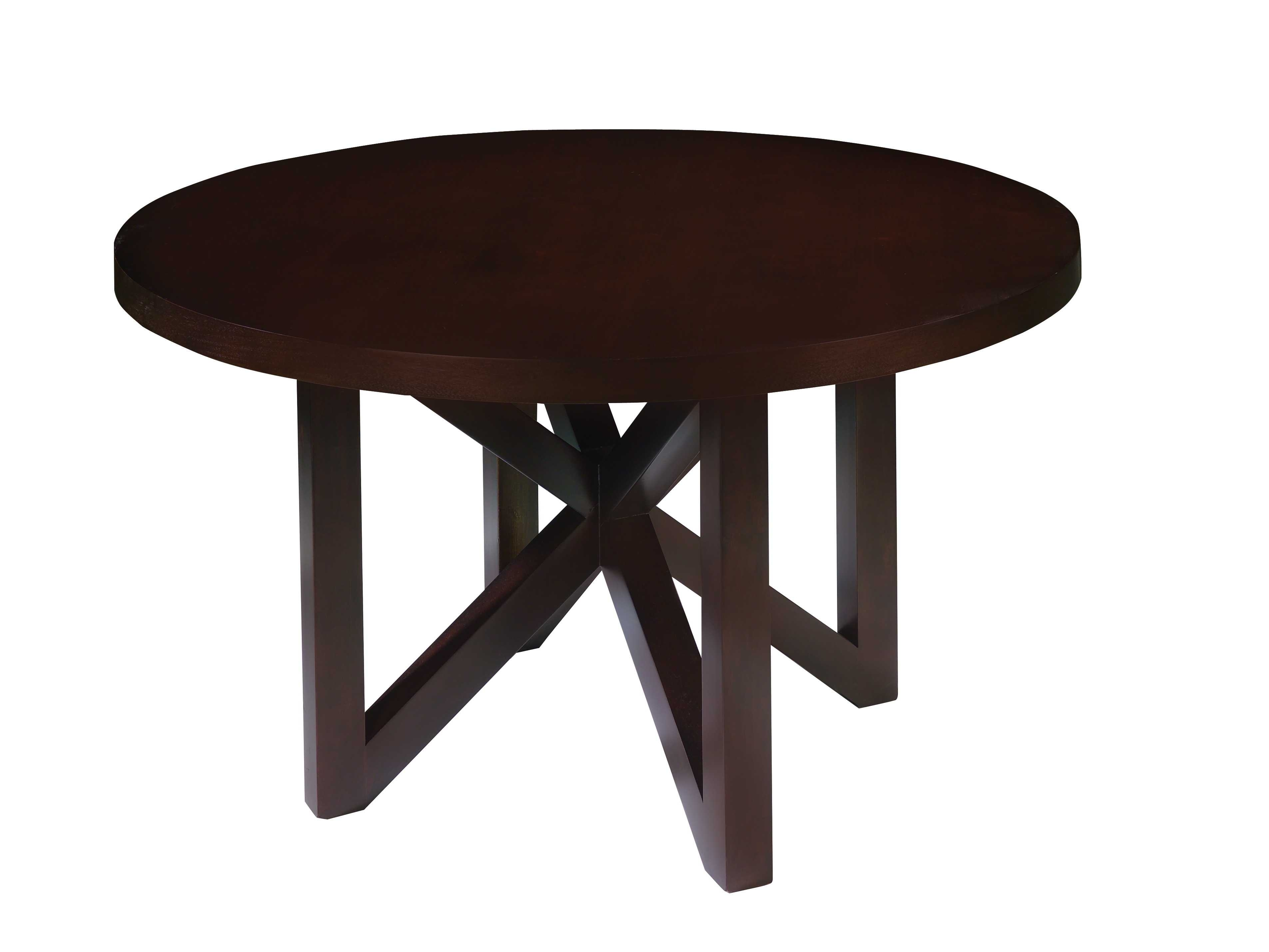 Allan Copley Designs Snowmass 54 Round Espresso Dining Within Most Recently Released Caira Black Round Dining Tables (View 9 of 20)