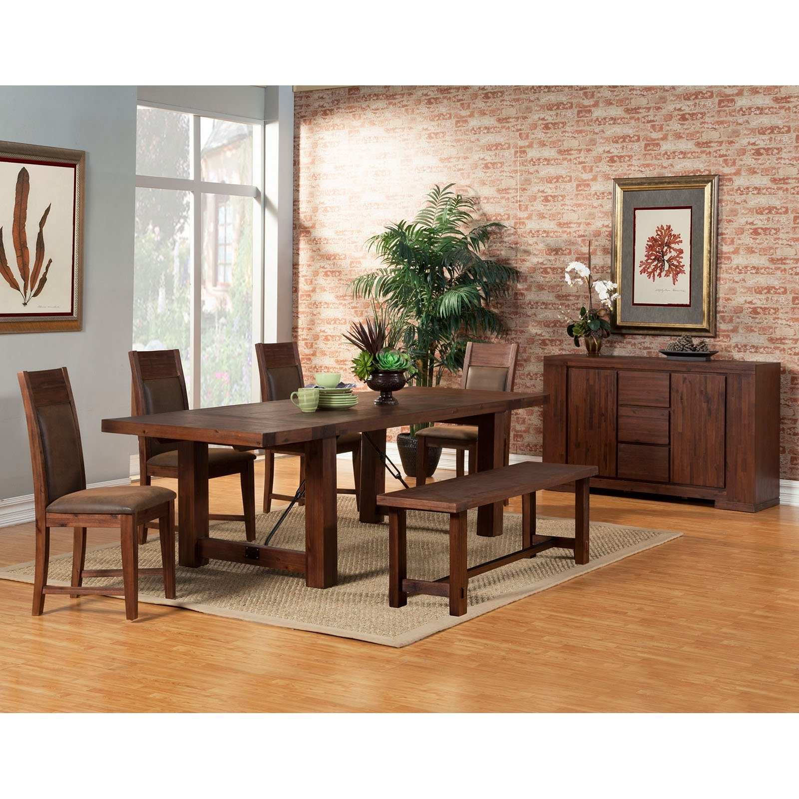 Alpine Furniture Granada 7 Piece Dining Table Set | Hayneedle Intended For Most Recently Released Cora 7 Piece Dining Sets (Image 4 of 20)