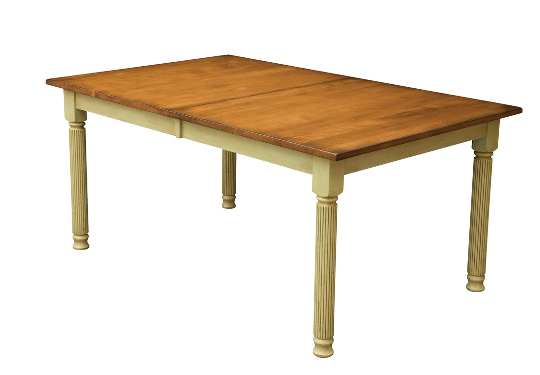 Amish Furniture: Hand Crafted, Solid Wood Dining Leg Tables For Newest Chandler Extension Dining Tables (Photo 9 of 20)