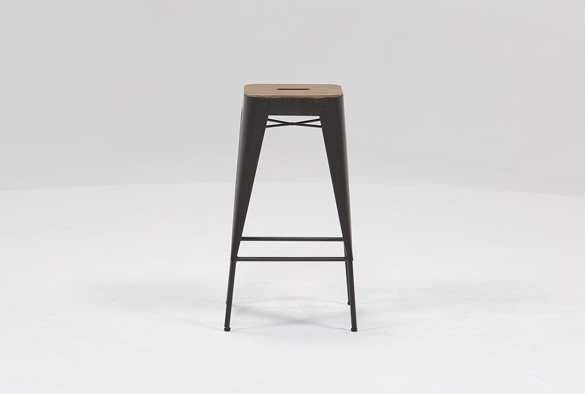 Amos 28 Inch Barstool | Living Spaces With Current Washed Old Oak & Waxed Black Legs Bar Tables (View 8 of 20)