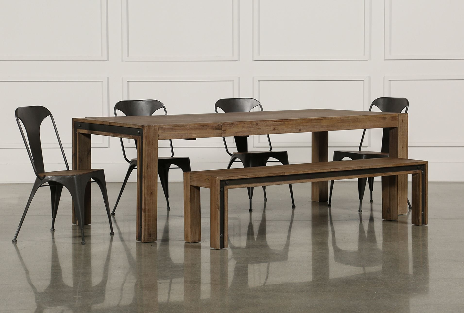 Amos 6 Piece Extension Dining Set, Grey | Dining, Industrial Inside Most Popular Candice Ii Extension Rectangle Dining Tables (View 7 of 20)