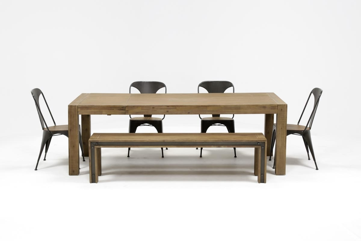 Amos 6 Piece Extension Dining Set | Living Spaces For Most Current Amos Extension Dining Tables (Image 1 of 20)