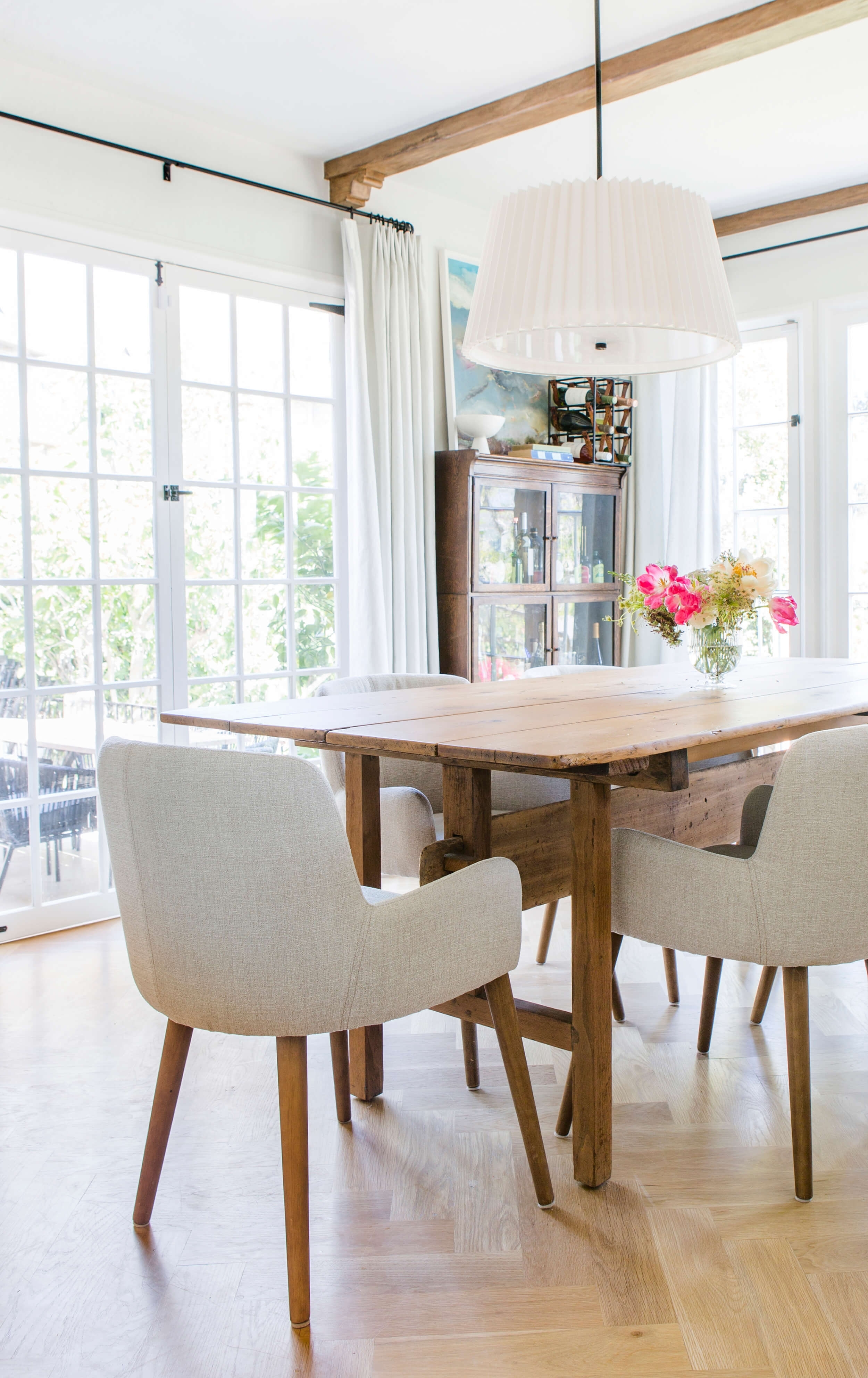 An Update On My Dining Room – Emily Henderson Inside Most Popular Market 6 Piece Dining Sets With Host And Side Chairs (View 8 of 20)