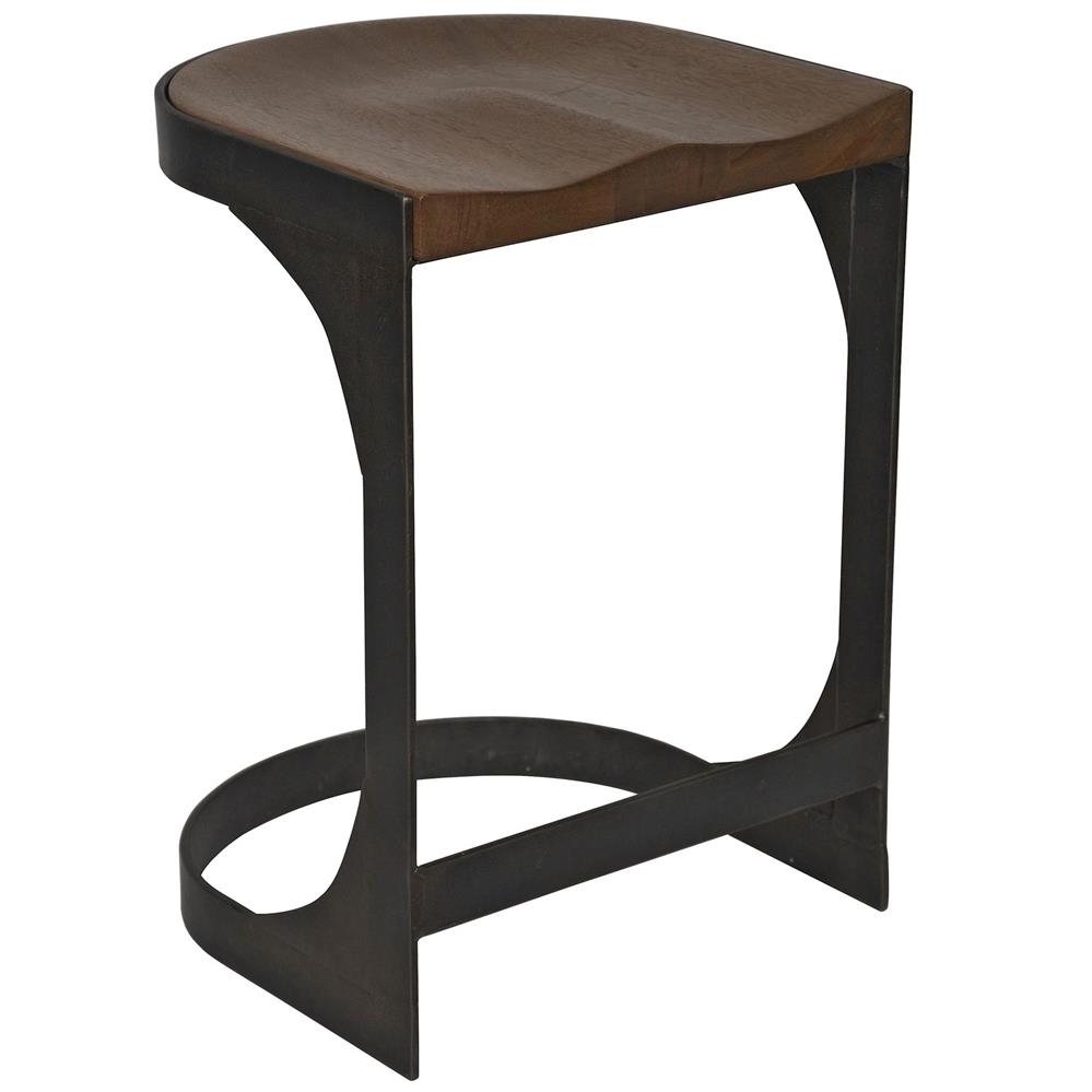 Andie Industrial Loft Modern Rustic Wood Metal Counter Stool With Regard To 2017 Laurent 7 Piece Counter Sets With Wood Counterstools (Image 1 of 20)