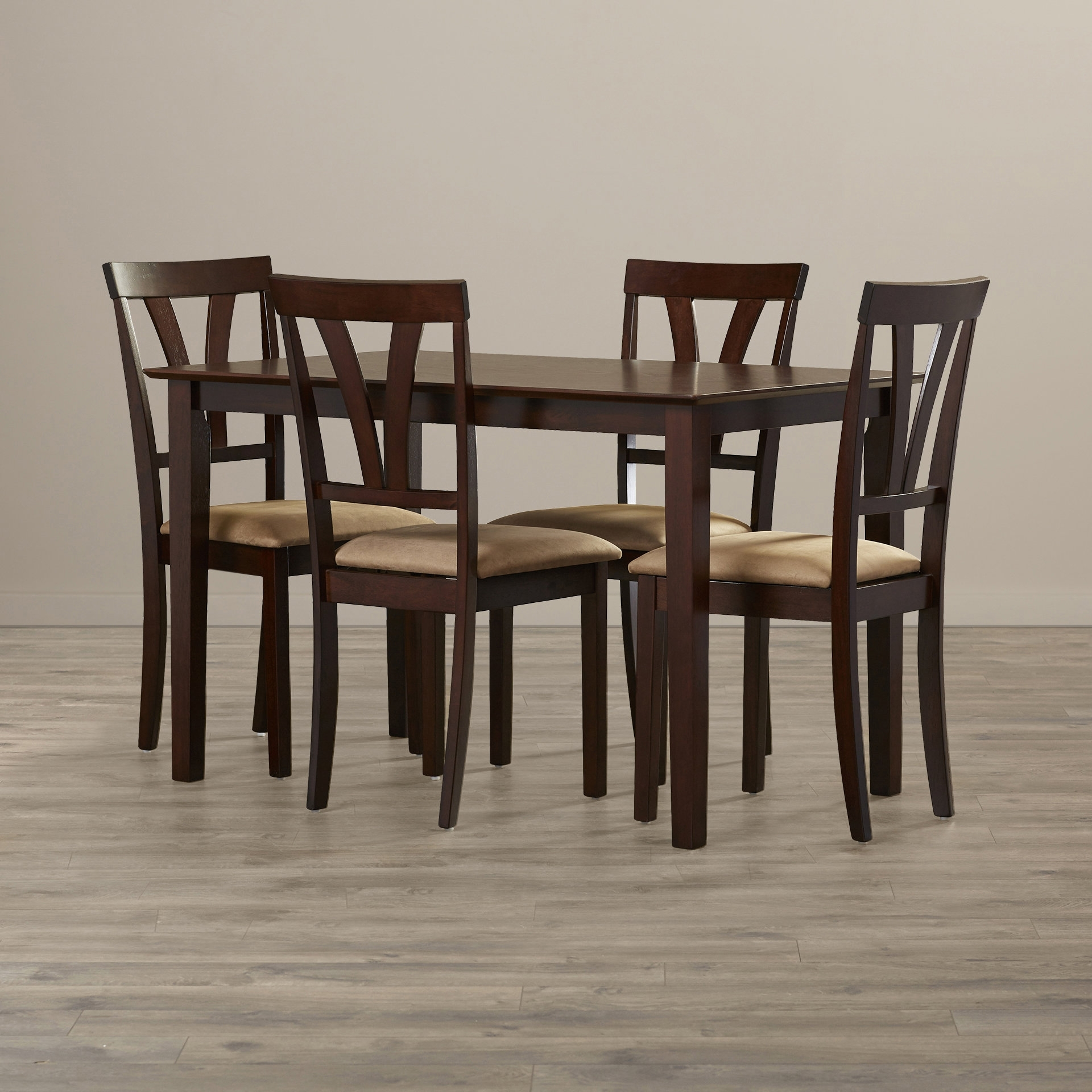 Andover Mills Donald 5 Piece Dining Set & Reviews   Wayfair Intended For Most Recent Market 6 Piece Dining Sets With Side Chairs (View 13 of 20)