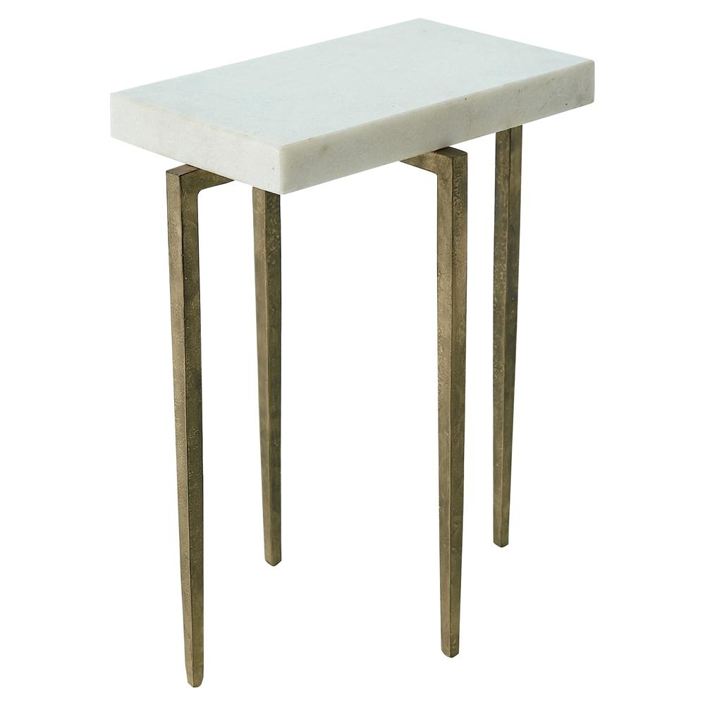 Angel Modern Classic Rectangular White Marble Antique Gold Metal Regarding Recent Caden Rectangle Dining Tables (View 17 of 20)