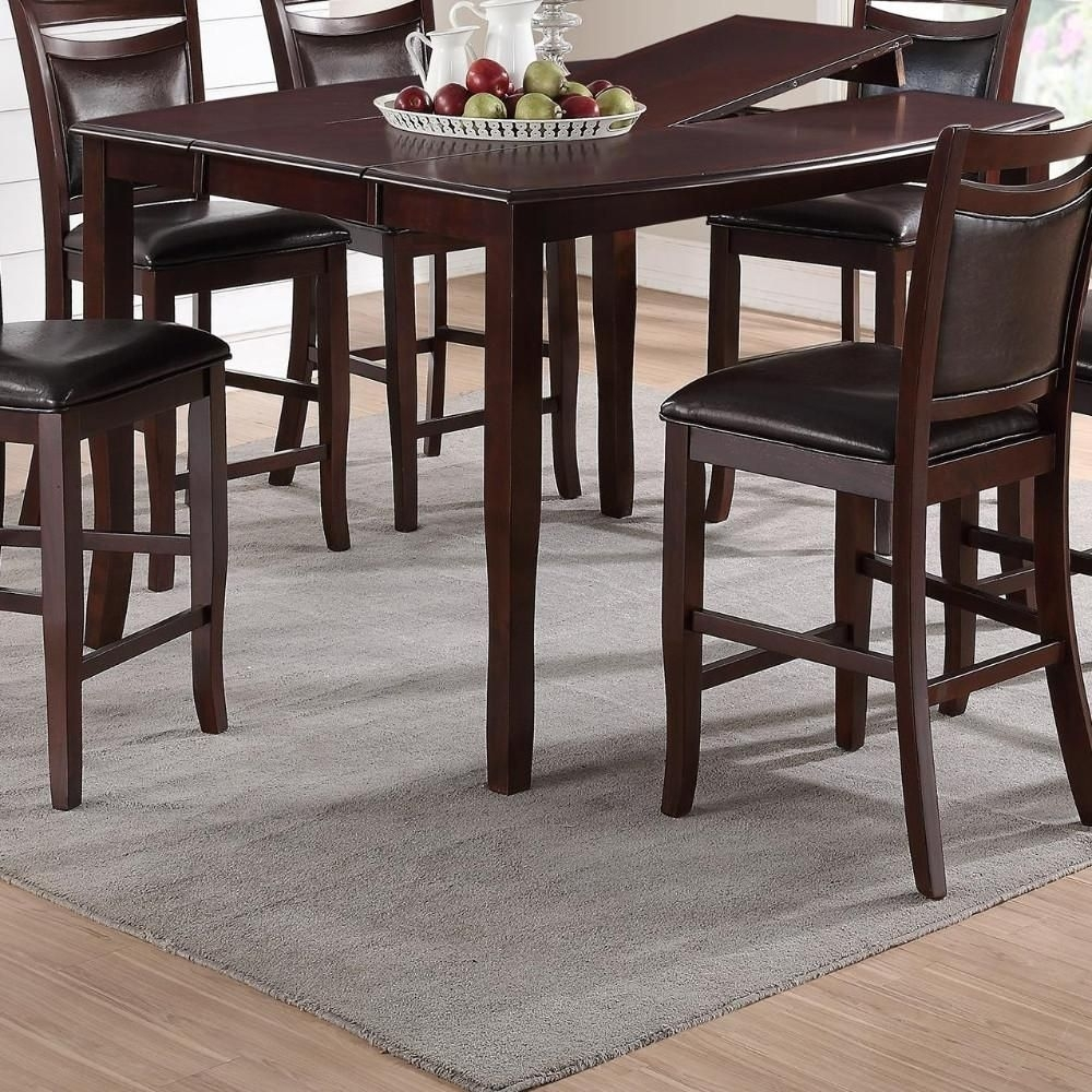 Anticardium Wood Counter Height Extension Table Brown In 2018 Intended For Recent Rocco 8 Piece Extension Counter Sets (View 9 of 20)