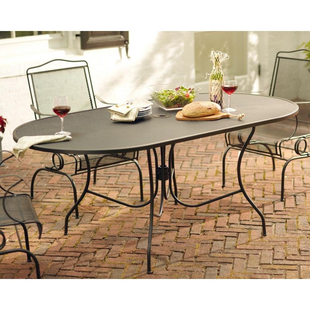 Arlington House Jackson Oval Patio Dining Table 3872200 0105157 Intended For Latest Jaxon 6 Piece Rectangle Dining Sets With Bench & Uph Chairs (Image 3 of 20)