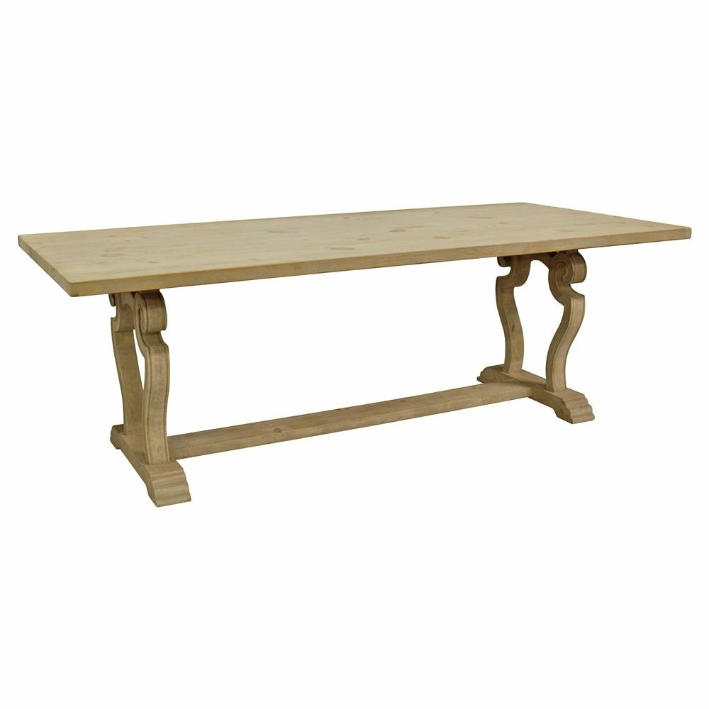 Artois French Country Carved Base Rectangular Dining Table | Kathy Throughout Most Popular Natural Wood & Recycled Elm 87 Inch Dining Tables (Image 1 of 20)