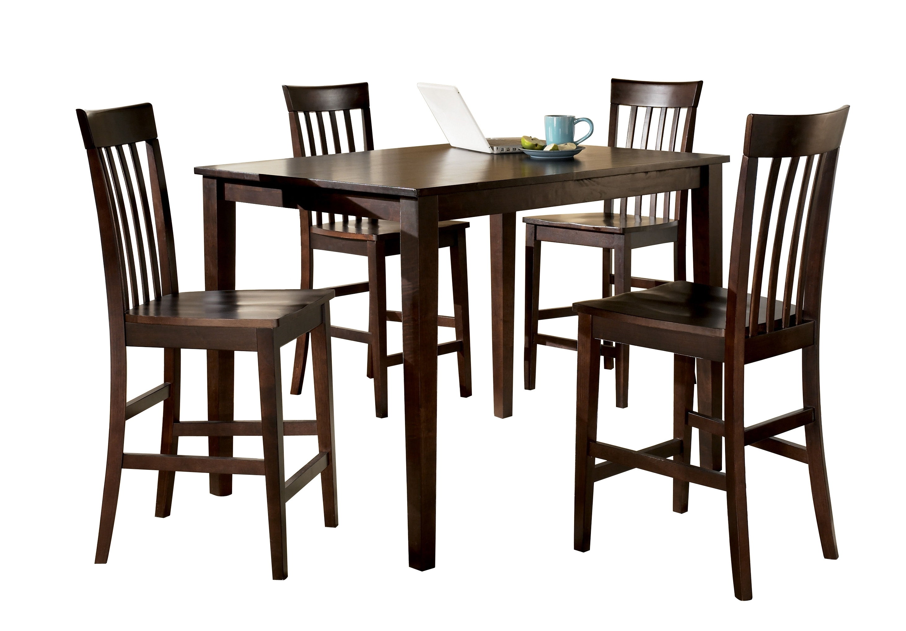 Ashley Furniture Hyland 5Pc Counter Table Set | The Classy Home With Regard To Current Hyland 5 Piece Counter Sets With Stools (Image 3 of 20)