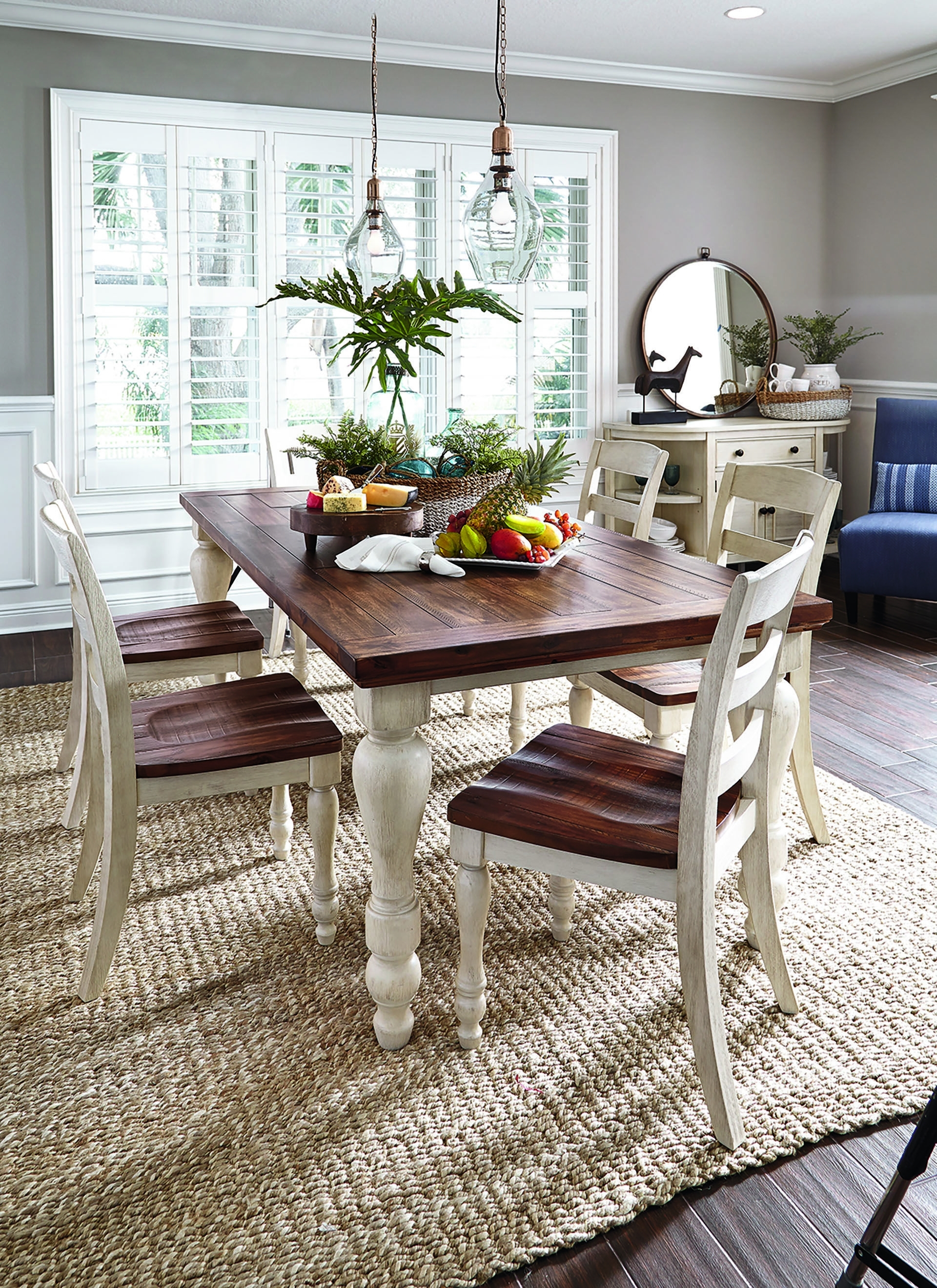 Ashley's Marsilona Dining Love The Dark And Light Wood Together In Current Laurent 7 Piece Rectangle Dining Sets With Wood Chairs (View 18 of 20)