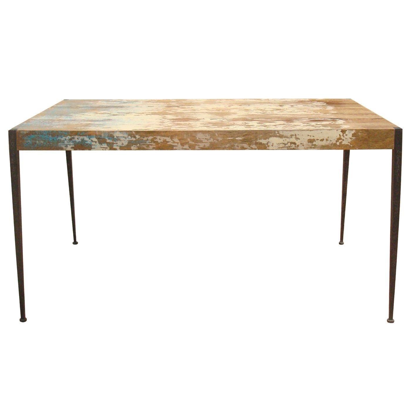Astoria Dining Table Solid Mango Wood Iron Leg | Products Inside Current Mango Wood/iron Dining Tables (Image 3 of 20)