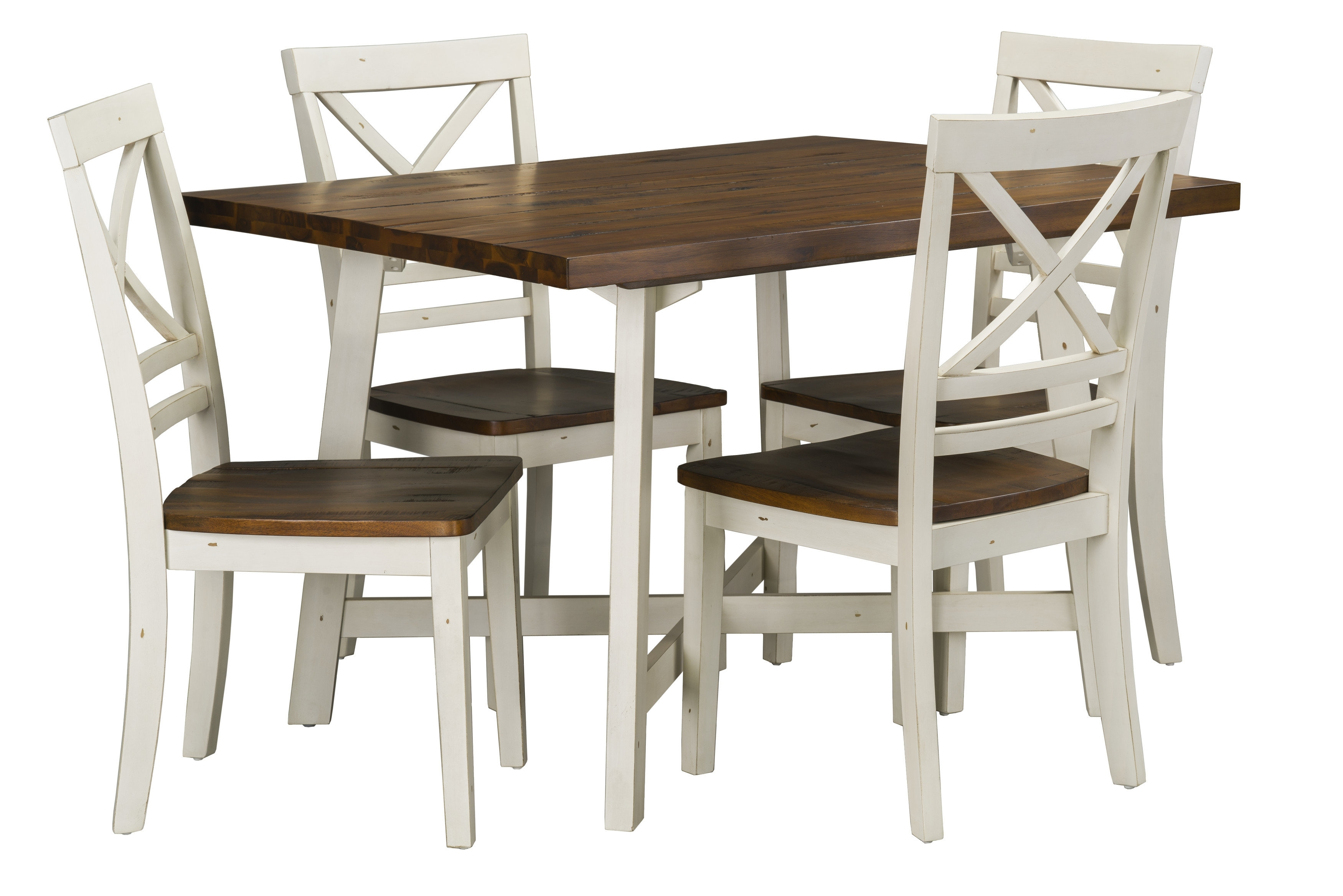 August Grove Dunnes 5 Piece Dining Set & Reviews | Wayfair Pertaining To 2017 Cora 5 Piece Dining Sets (Image 10 of 20)