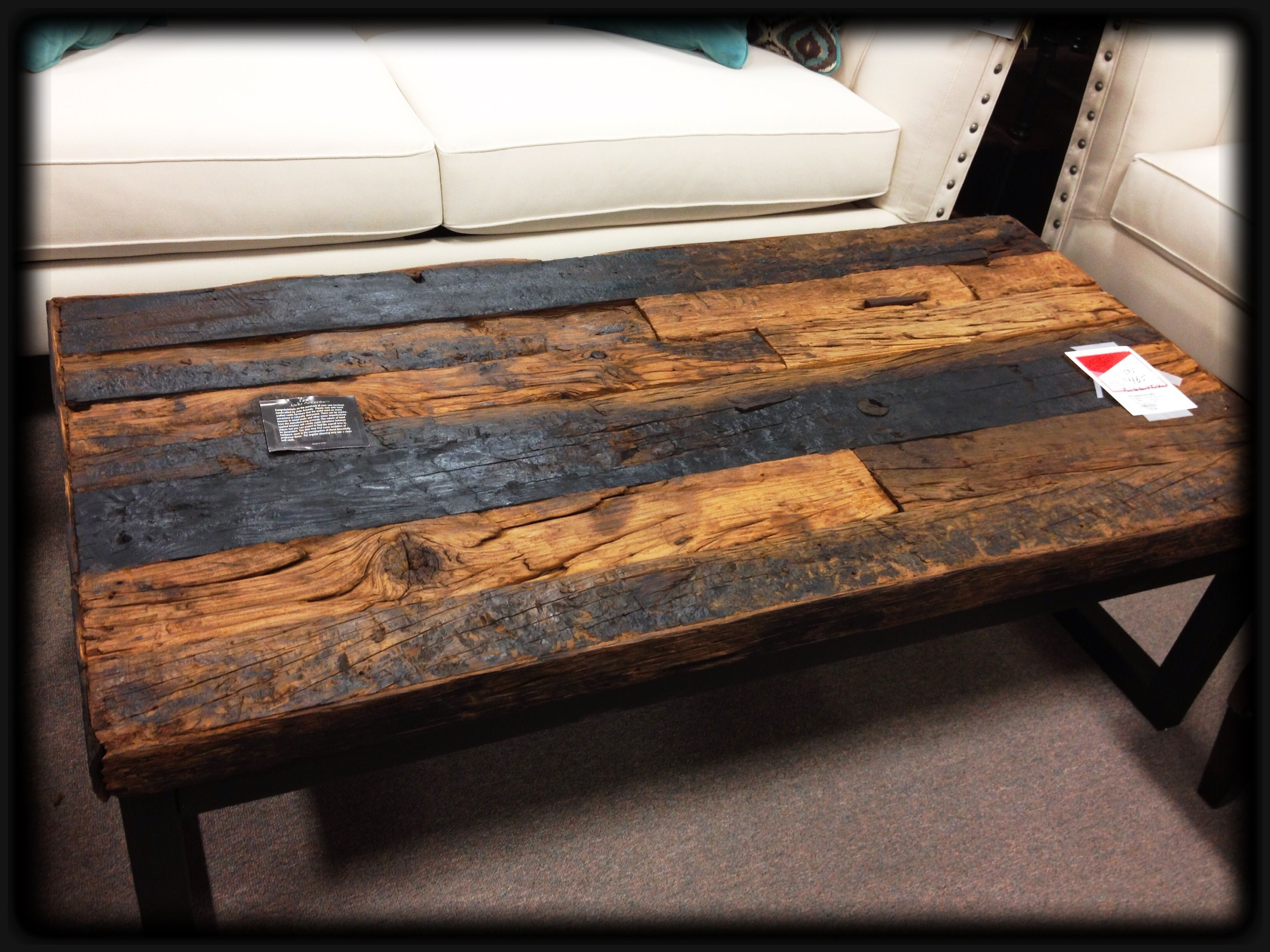 Awesome, Coffee Table Made W Railroad Ties As Table Top. Want (Image 1 of 20)