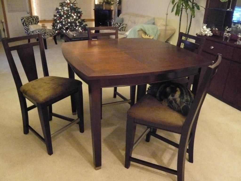 Awesome Counter Height Dining Table Pros And Cons | Dining Table Inside 2018 Caden 5 Piece Round Dining Sets With Upholstered Side Chairs (View 15 of 20)