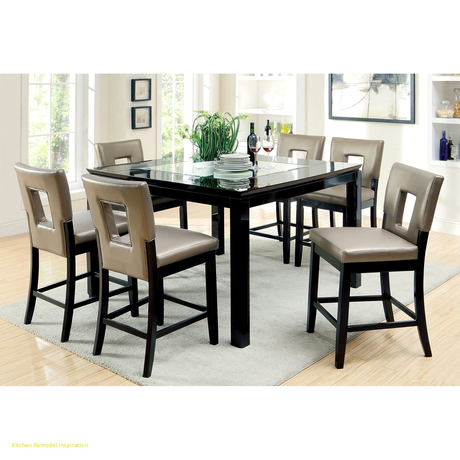 Baby Chairs For Dining Table Inspirational Crosley 5 Piece Pub High Regarding 2017 Kirsten 5 Piece Dining Sets (Image 4 of 20)