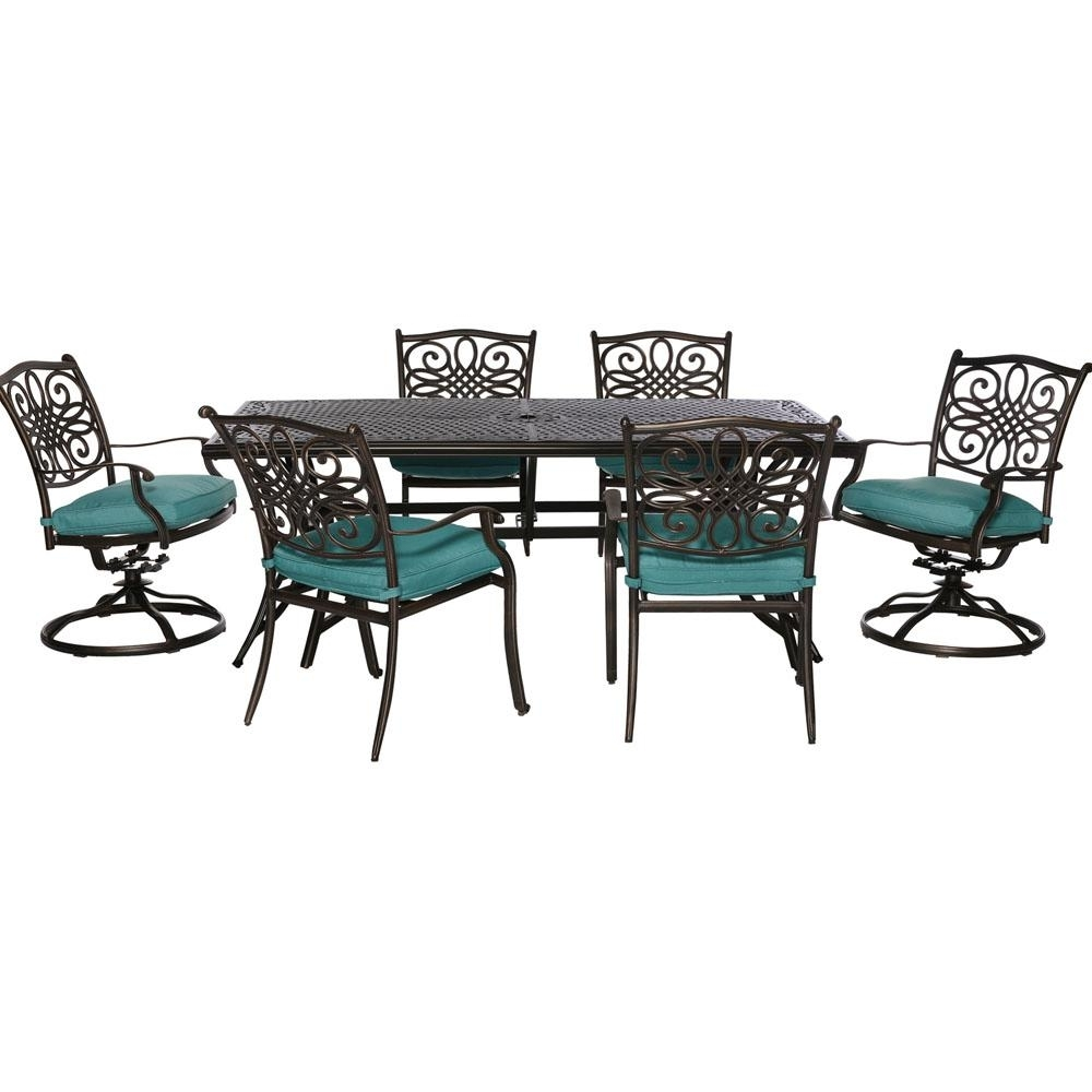 Bar Height – Wicker Patio Furniture – Outdoor Bar Furniture – Patio Intended For Most Recently Released Delfina 7 Piece Dining Sets (Image 6 of 20)
