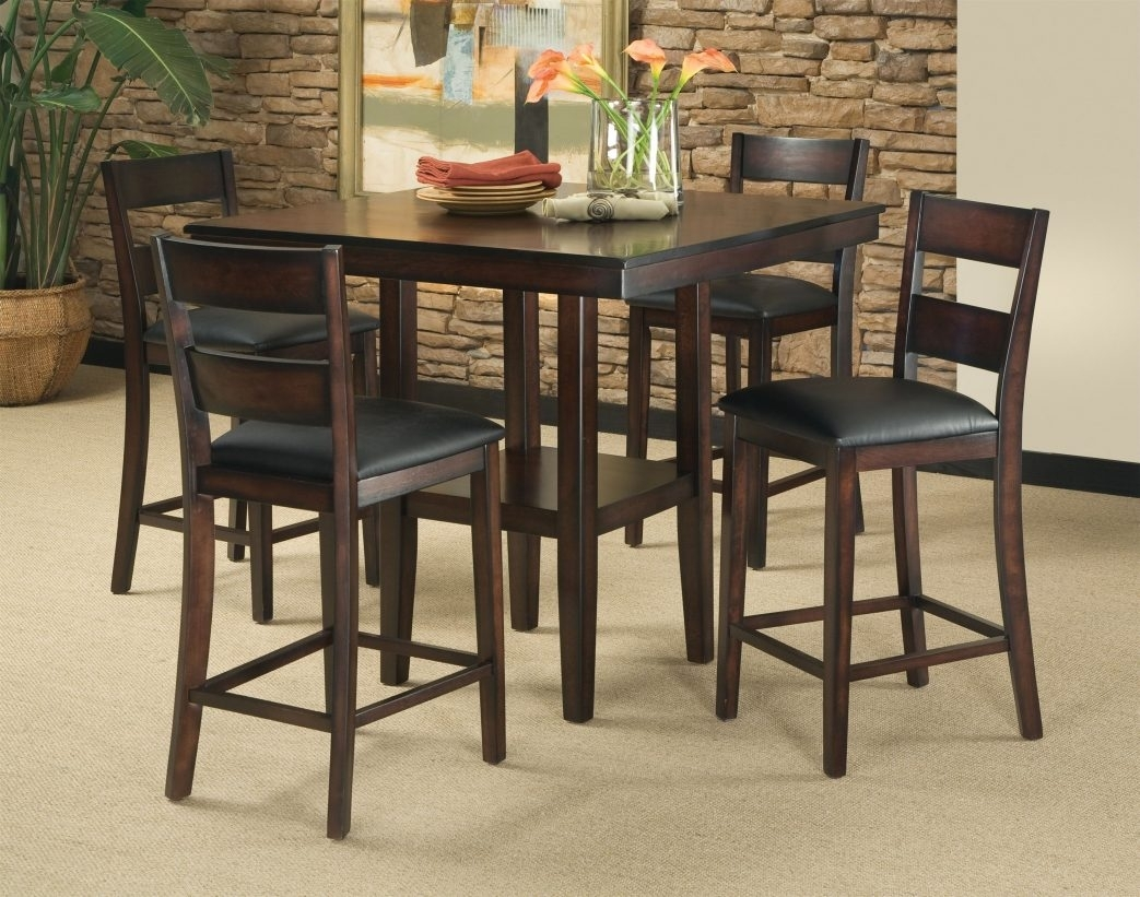 Bar Table And Stools Set Furniture – Castrophotos Within Most Current Valencia 5 Piece Counter Sets With Counterstool (View 20 of 20)