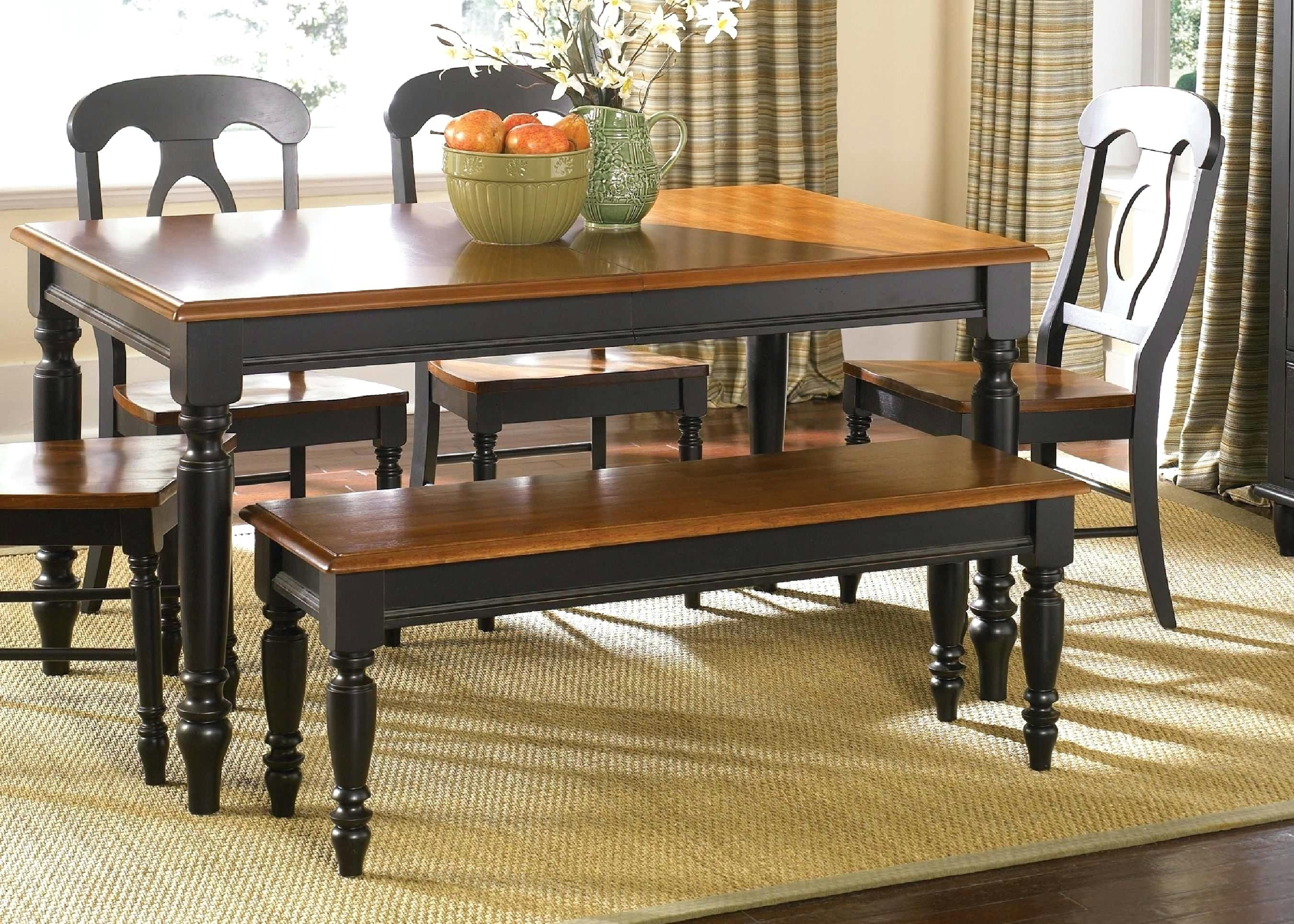 Bardstown Dining Set Top Dining Room Table Sets With Bench Crown Regarding Best And Newest Bradford 7 Piece Dining Sets With Bardstown Side Chairs (Image 2 of 20)
