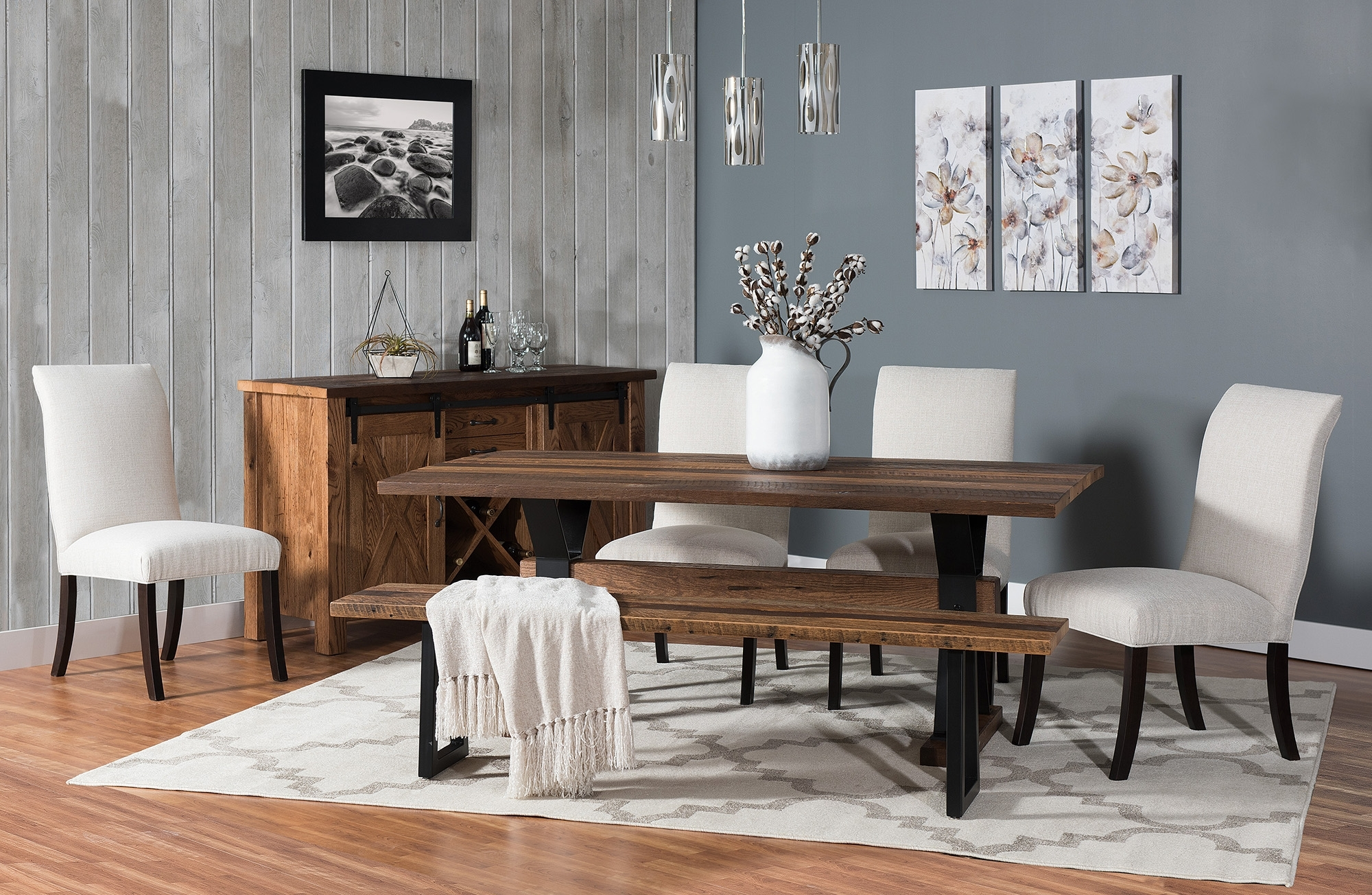 Barnloft Trestle Dining Group – Weaver Furniture Sales With Most Recently Released Weaver Ii Dining Tables (Image 3 of 20)