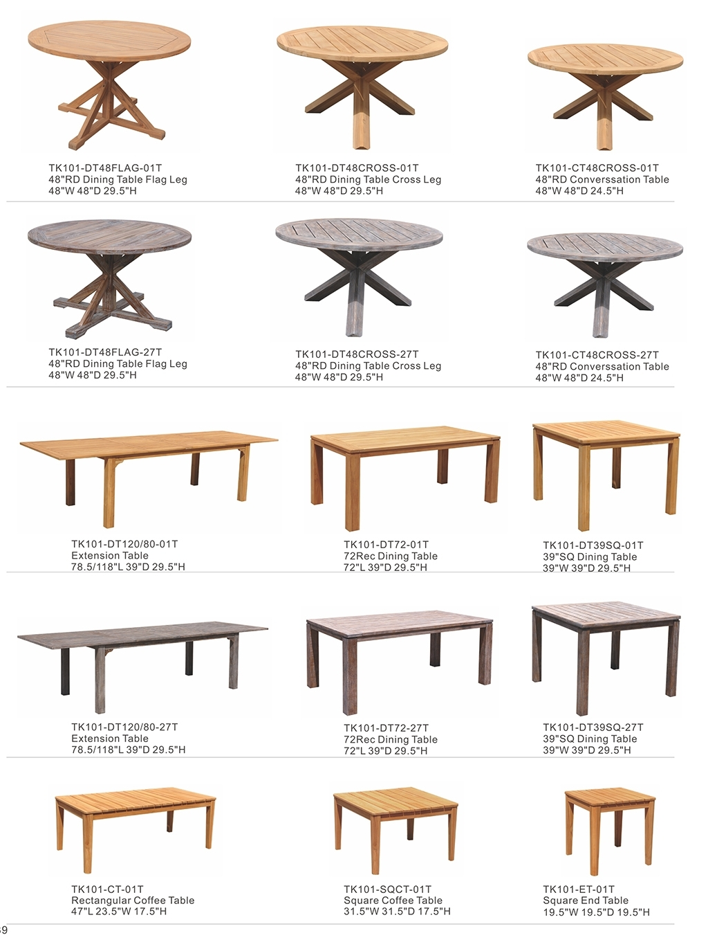Basic Teak Tables — Kingston Casualkingston Casual Intended For Most Popular Combs 48 Inch Extension Dining Tables (Image 3 of 20)
