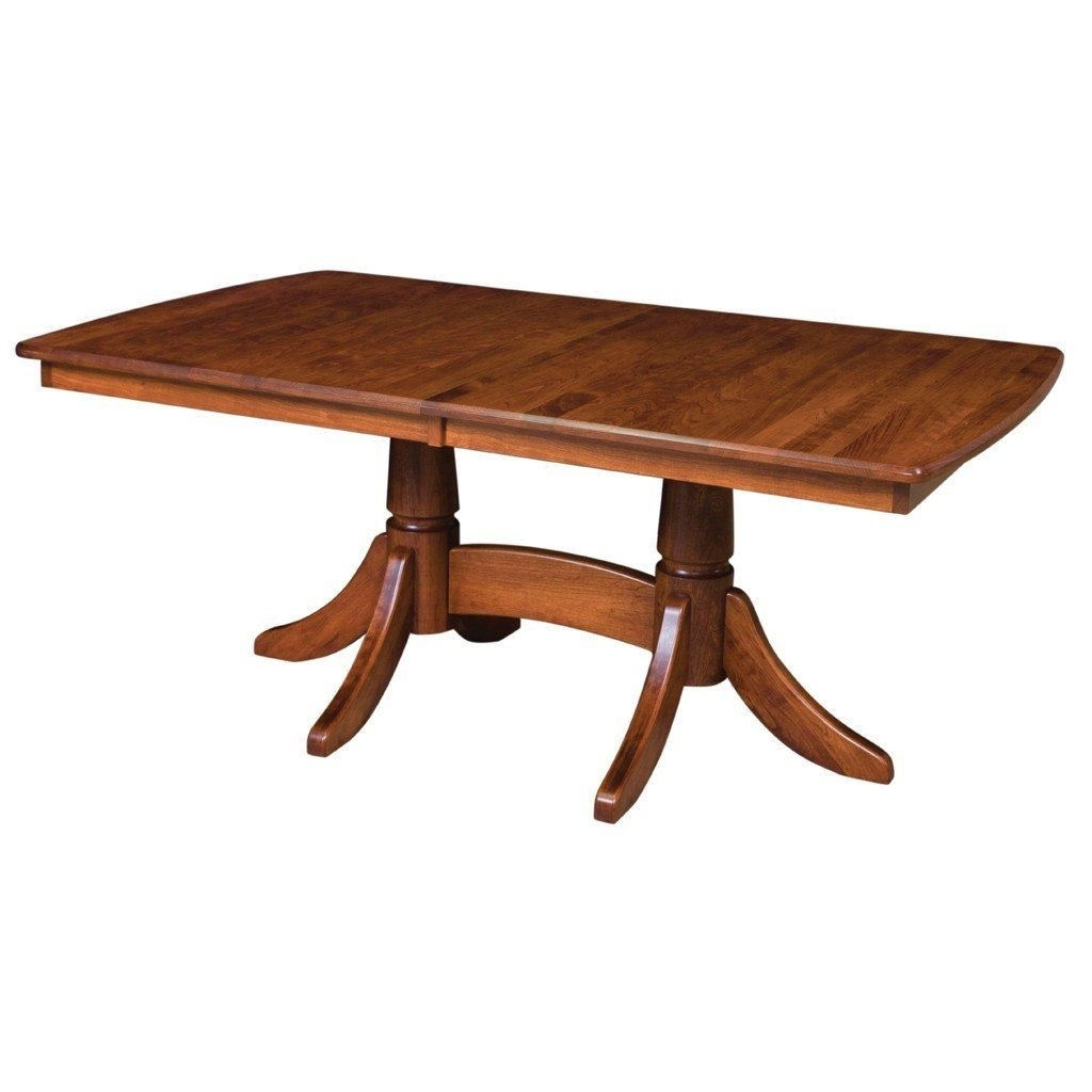Baytown Double Pedestal Extension Table | Dining Room Table Ideas With Most Popular Craftsman Rectangle Extension Dining Tables (Image 3 of 20)