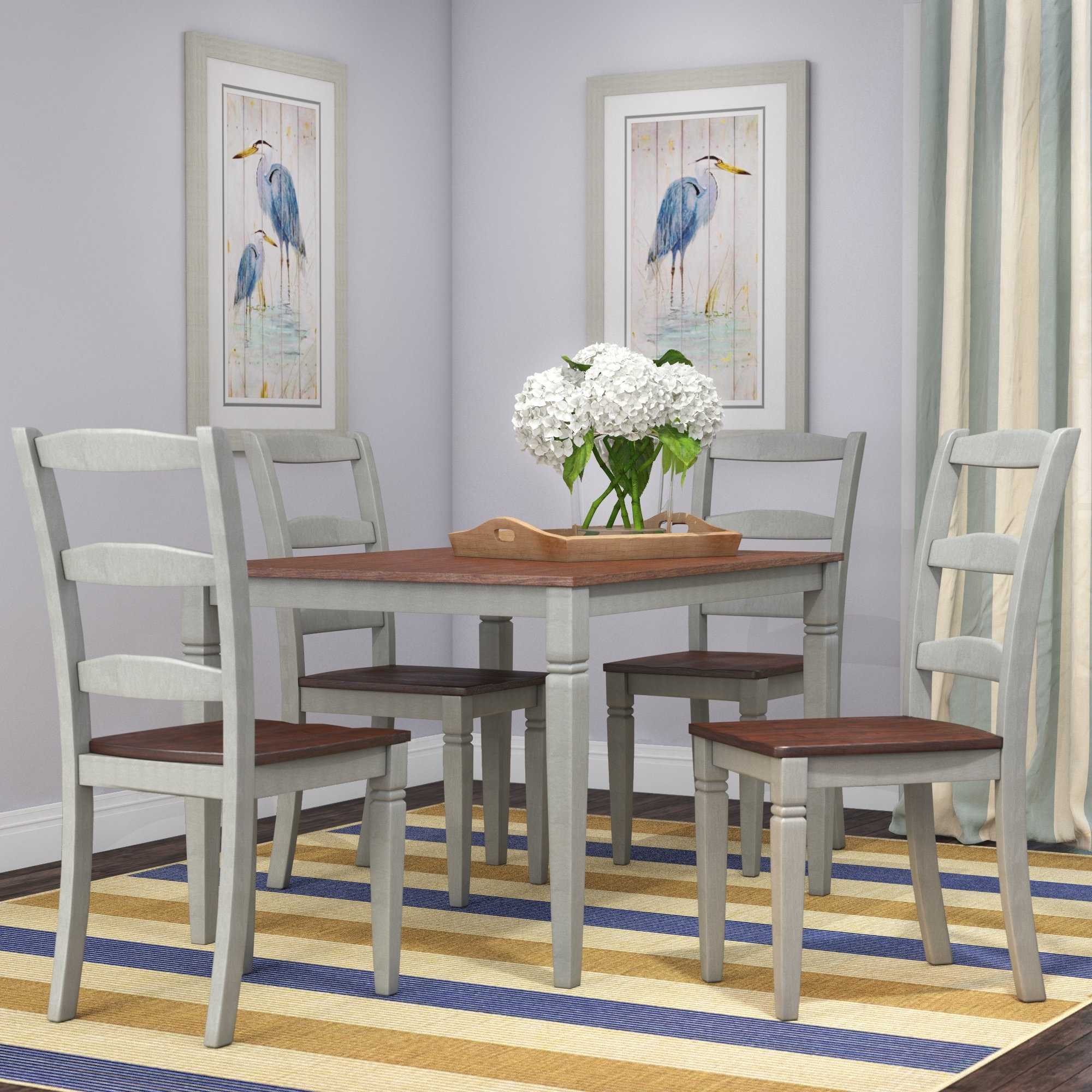 Beachcrest Home Cambridgeport 5 Piece Dining Set & Reviews | Wayfair With Regard To Recent Kirsten 5 Piece Dining Sets (Image 6 of 20)