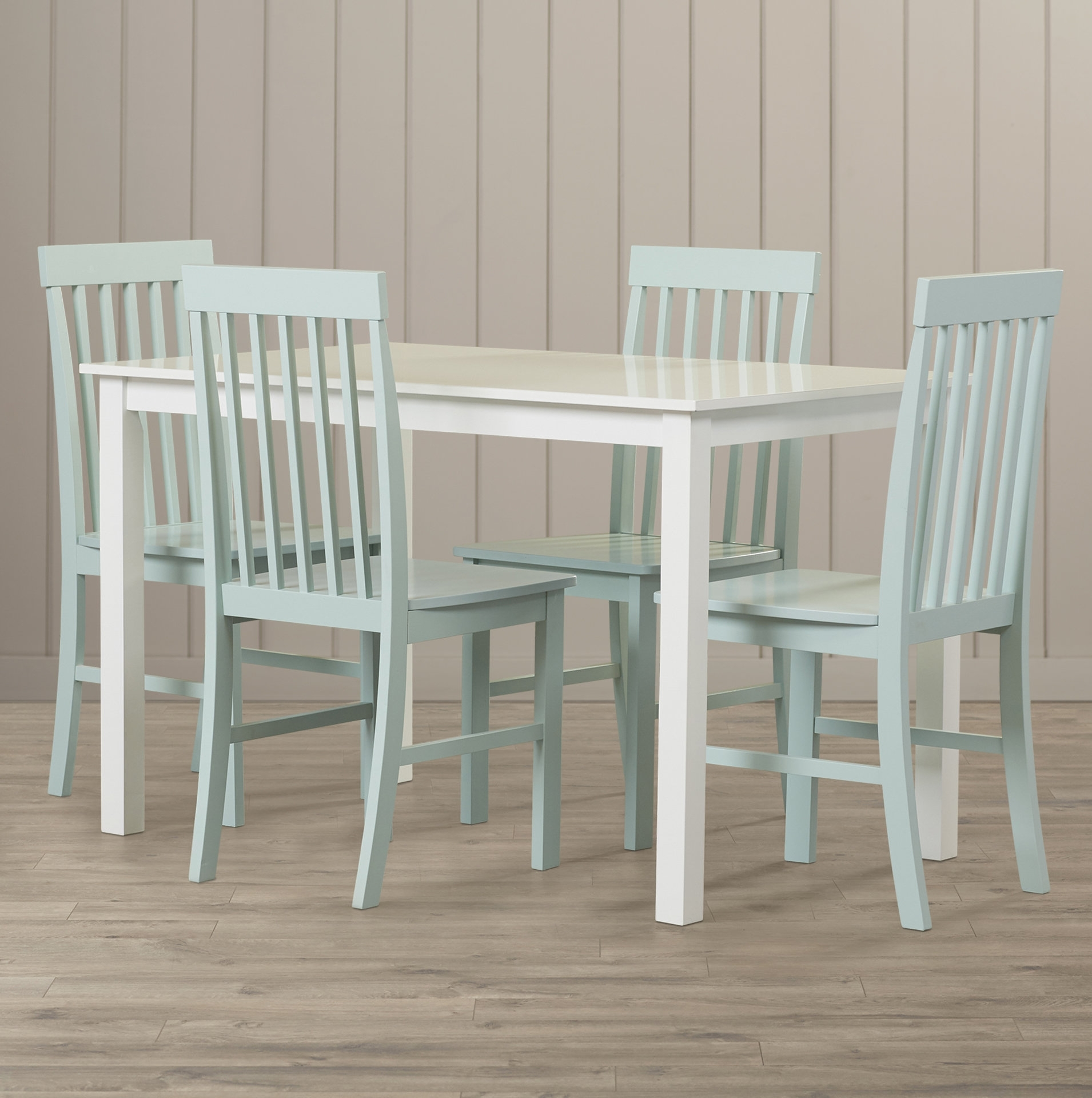 Beachcrest Home Cienna 5 Piece Dining Set & Reviews | Wayfair With Regard To Most Up To Date Laurent 5 Piece Round Dining Sets With Wood Chairs (Photo 20 of 20)