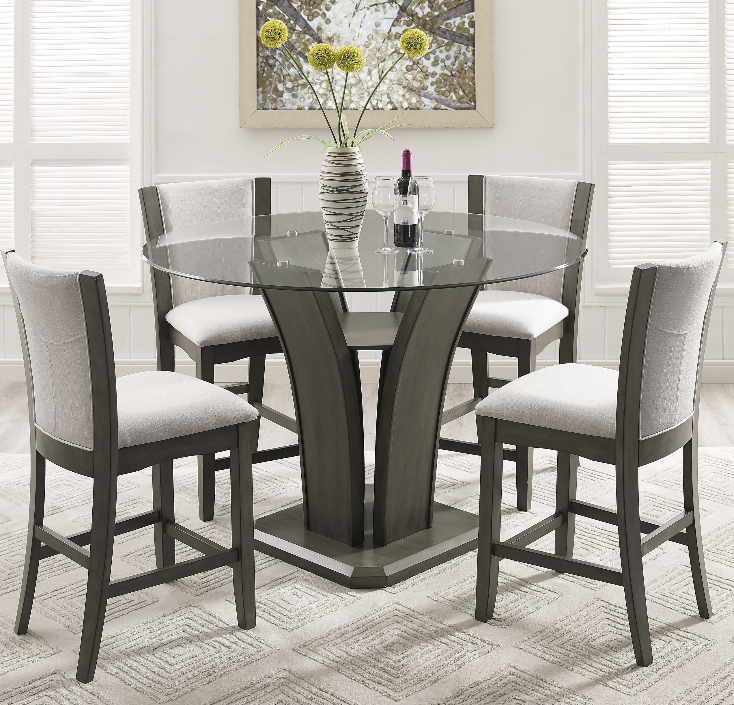 Beautiful Table Runners And Counter High Table And Chairs – Arvesi Inside Most Popular Rocco 9 Piece Extension Counter Sets (Image 4 of 20)