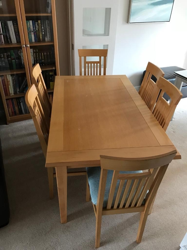 Beech Dining Table And 6 Matching Chairs | In Leeds, West Yorkshire Within Latest Patterson 6 Piece Dining Sets (Image 2 of 20)
