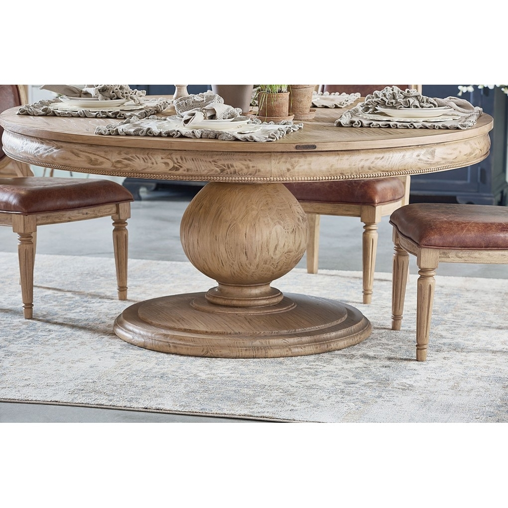Belgian Breakfast Table Intended For Most Current Magnolia Home Breakfast Round Black Dining Tables (Image 4 of 20)