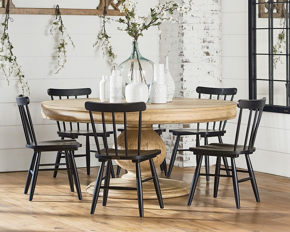 Belgian Breakfast Table With Vermont Chairs – Magnolia Home Throughout Most Current Magnolia Home Top Tier Round Dining Tables (Image 2 of 20)