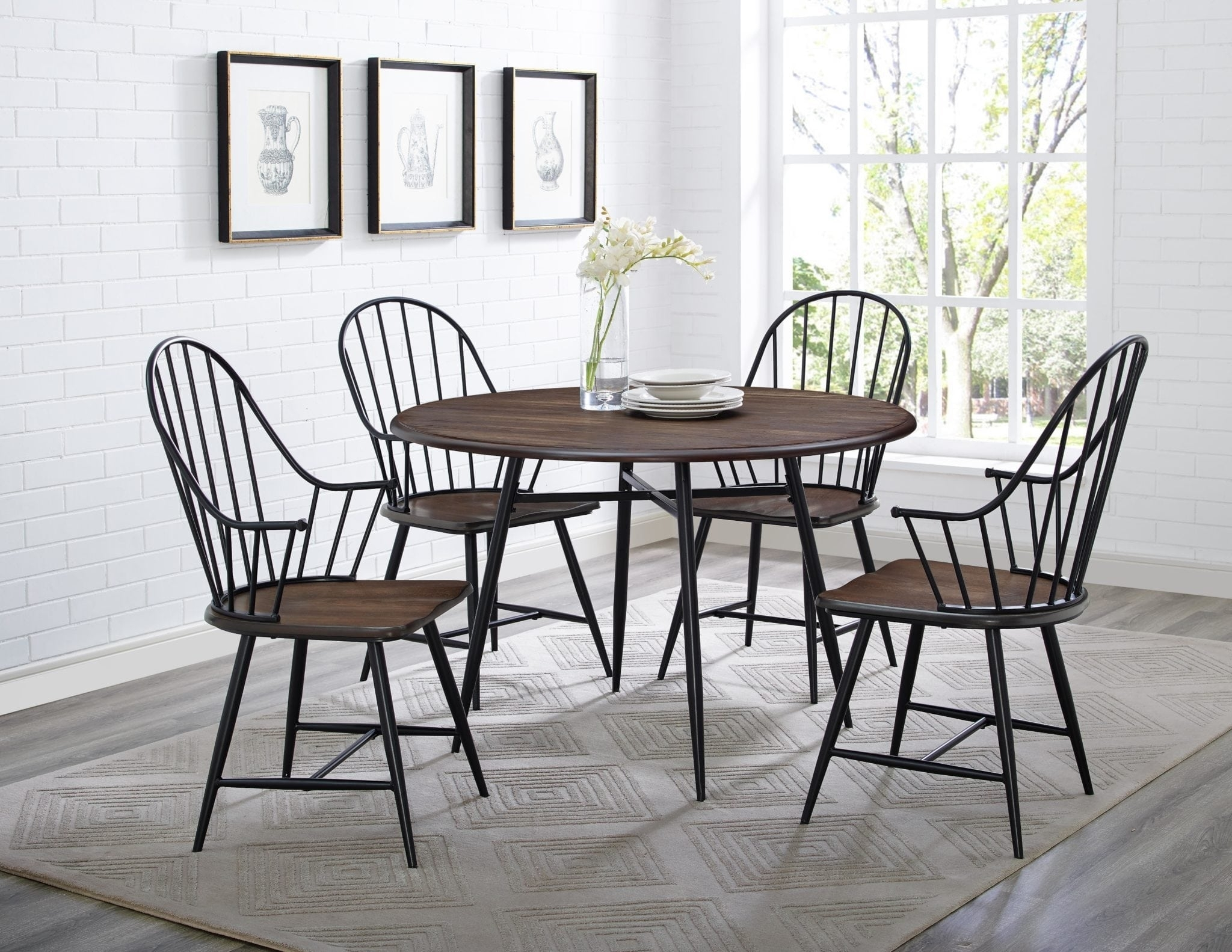 Bernards | Davis Home Furniture – Asheville, Canton & Waynesville, Nc With Current Jaxon 5 Piece Extension Round Dining Sets With Wood Chairs (Image 5 of 20)